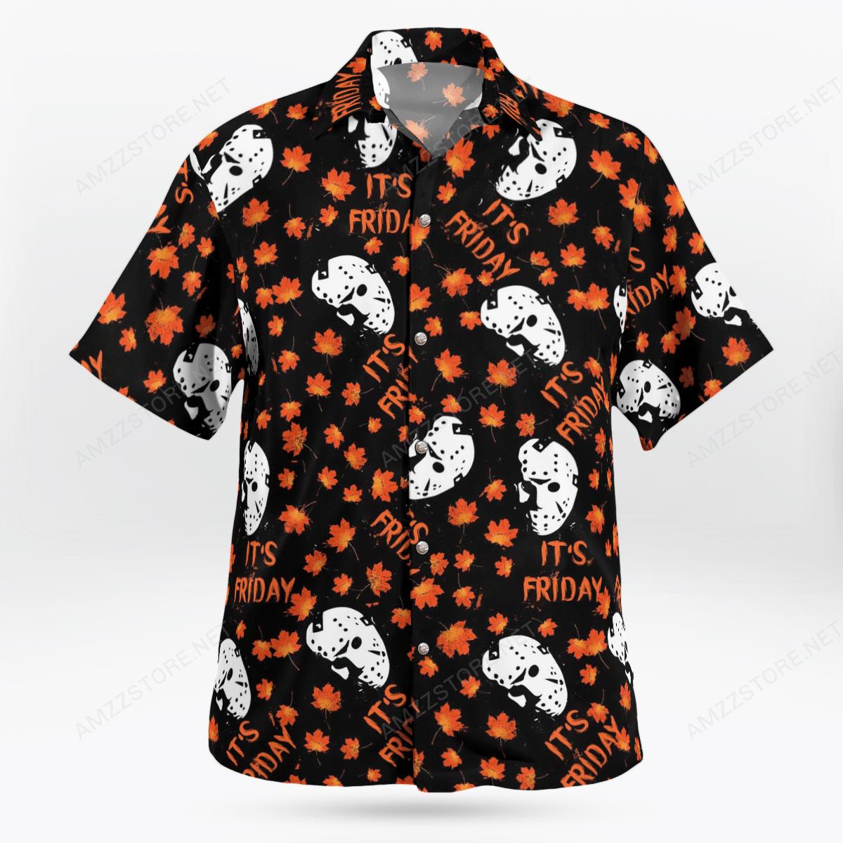 Jason Voorhees It's Friday maple leaf Hawaiian Shirt