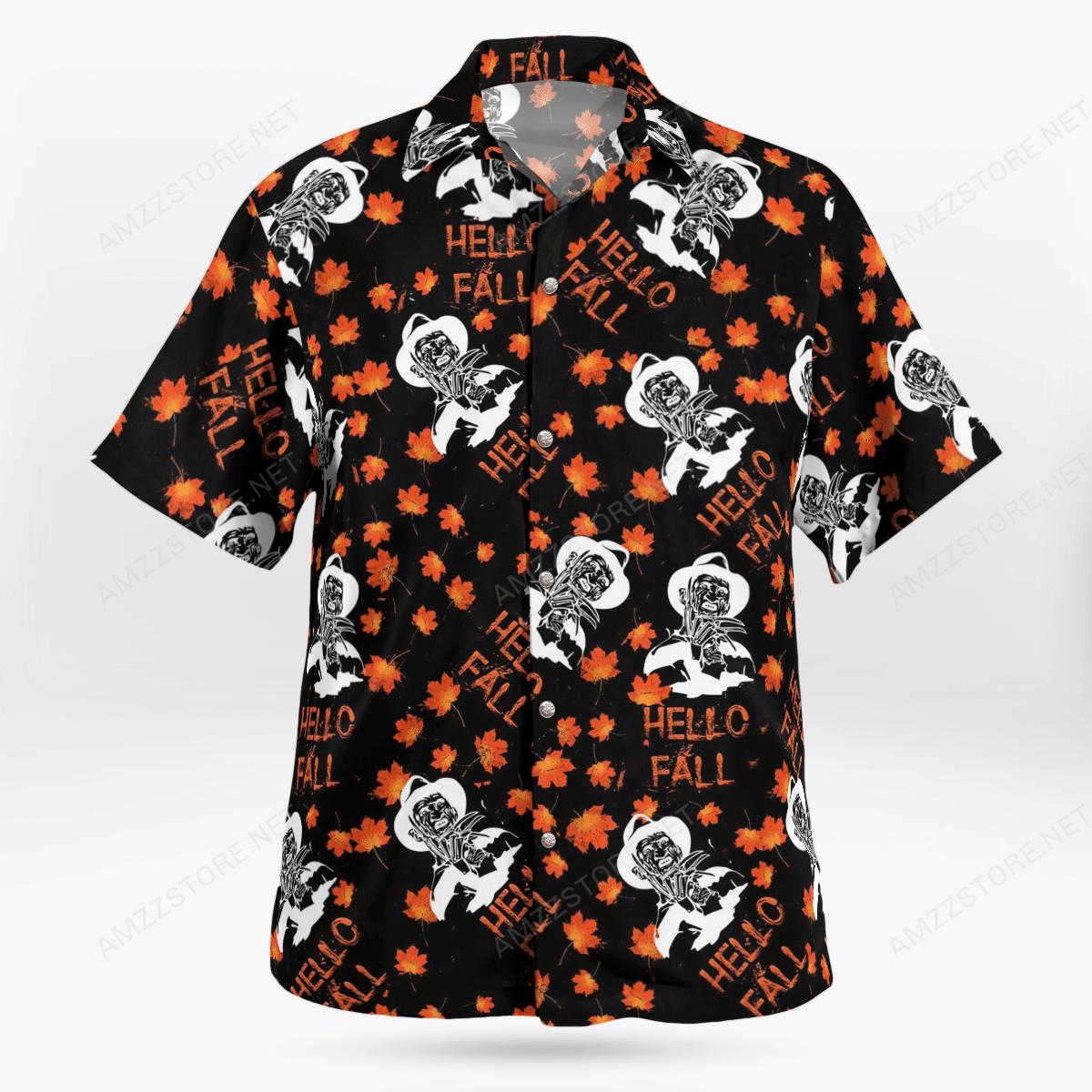 Halloween Freddy Krueger Hello Fall Hawaiian Shirt