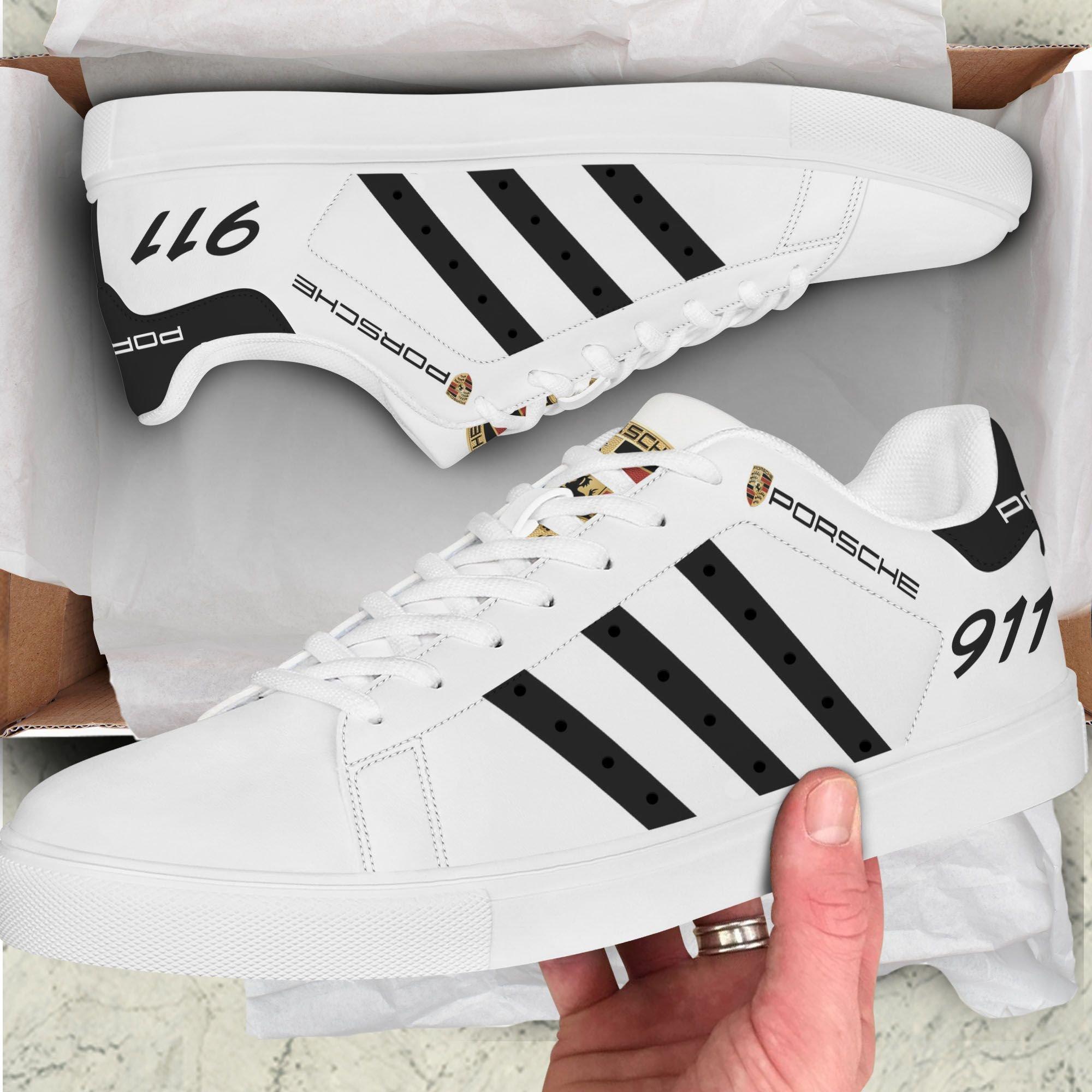 PORSCHE 911 black line white Stan Smith Shoes
