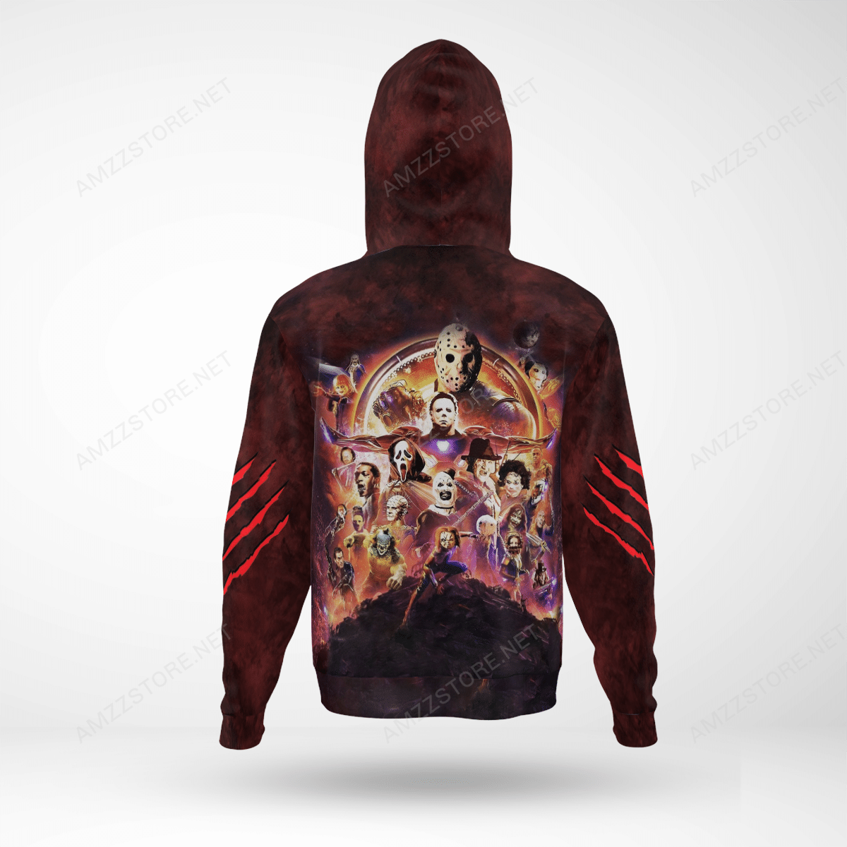 The Murderverse horror character world Full Printed 3D Hoodie