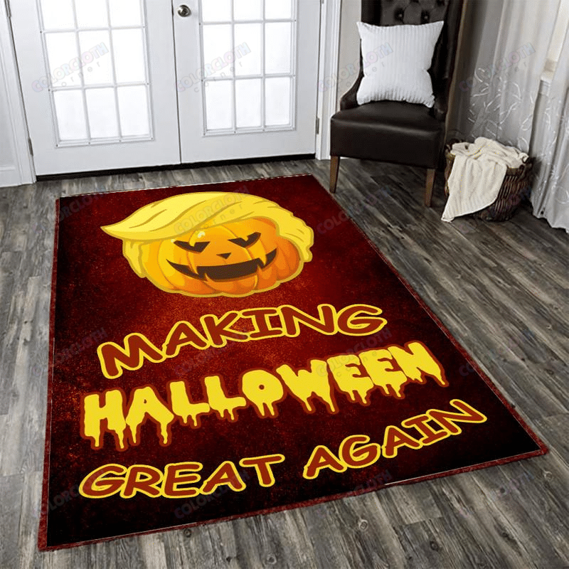 Donald Trump pumpkin Making Halloween Great Again Carpet Rug