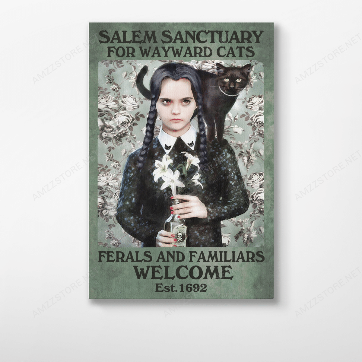 Salem Sanctuary for Wayward poison girl and Cats Poster