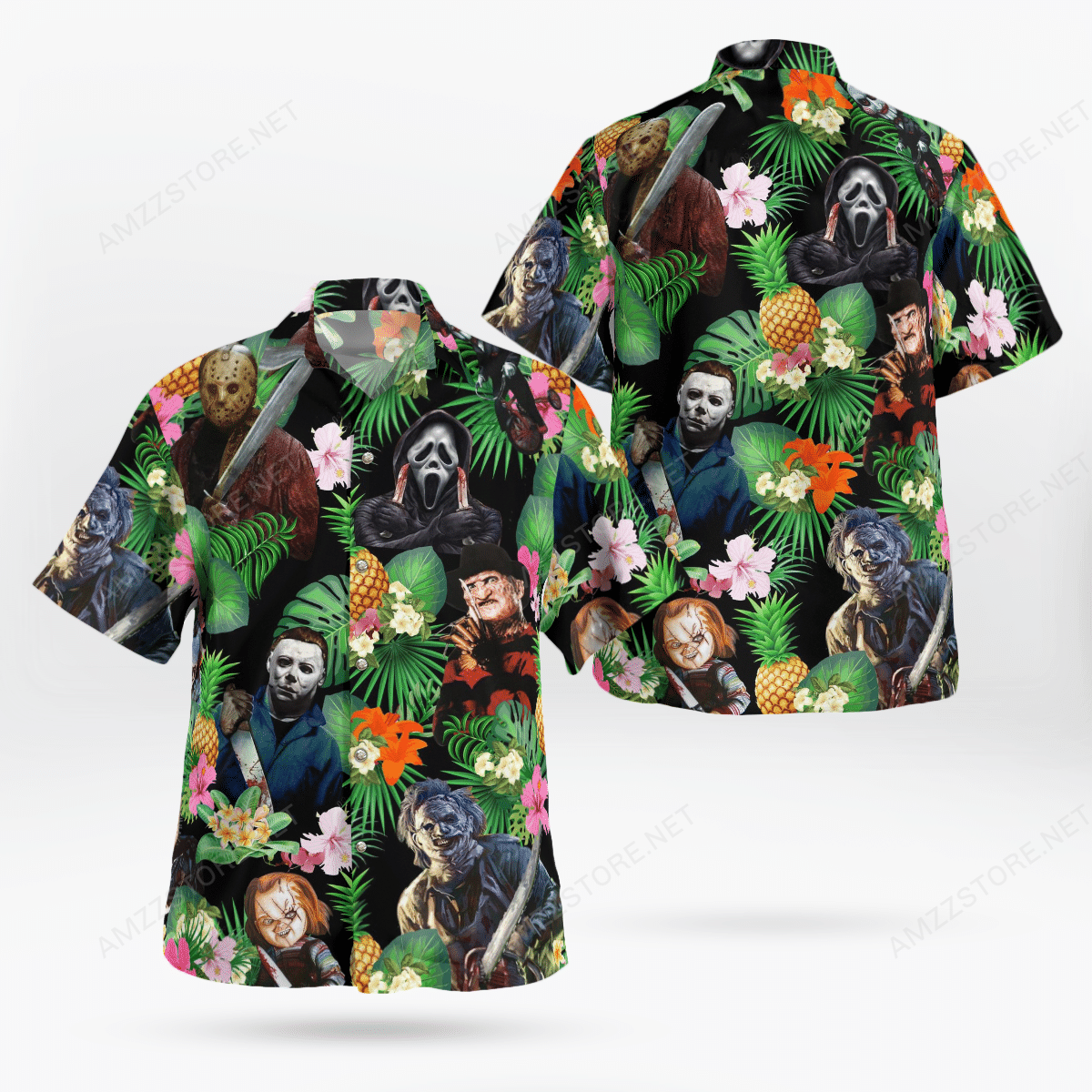 Halloween Horror Character Tropical pineapple Hawaiian Shirt