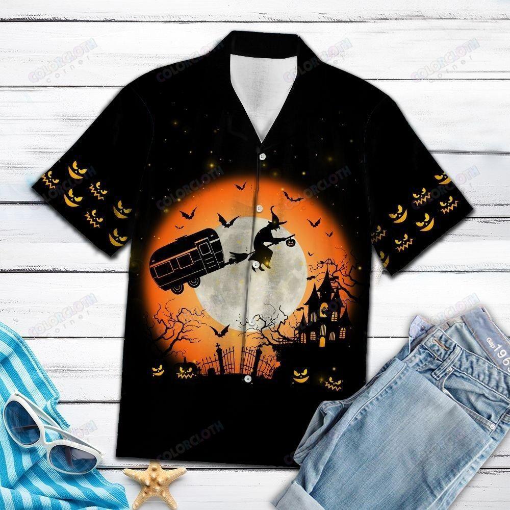 Caravan Witches Halloween Hawaiian Shirt