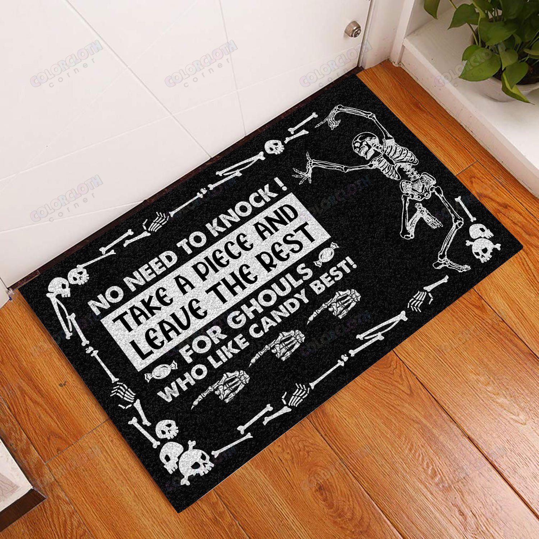 Halloween Skull Trick-Or-Treat Avoid Doormat