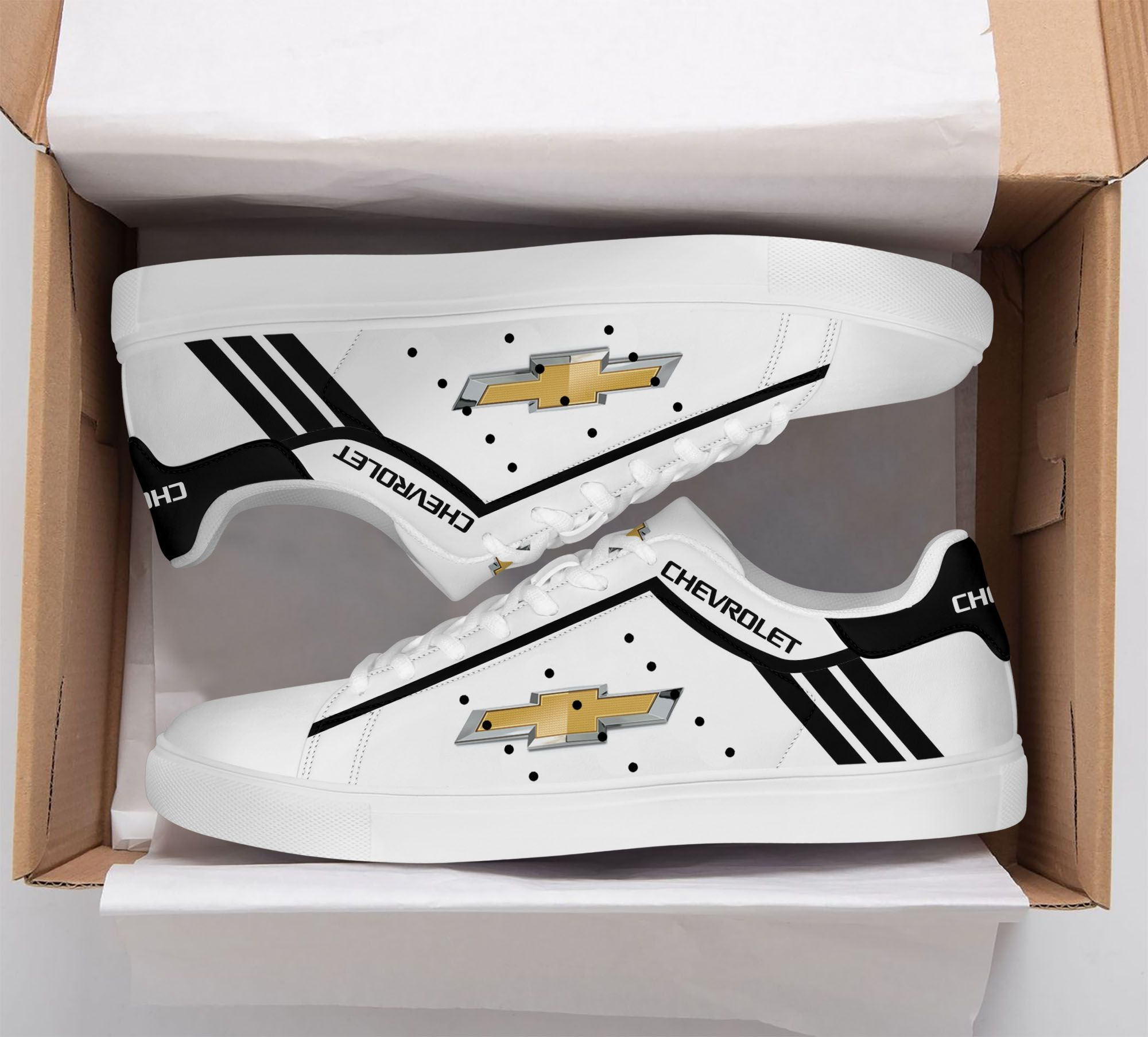 Chevrolet black and white Stan Smith Shoes