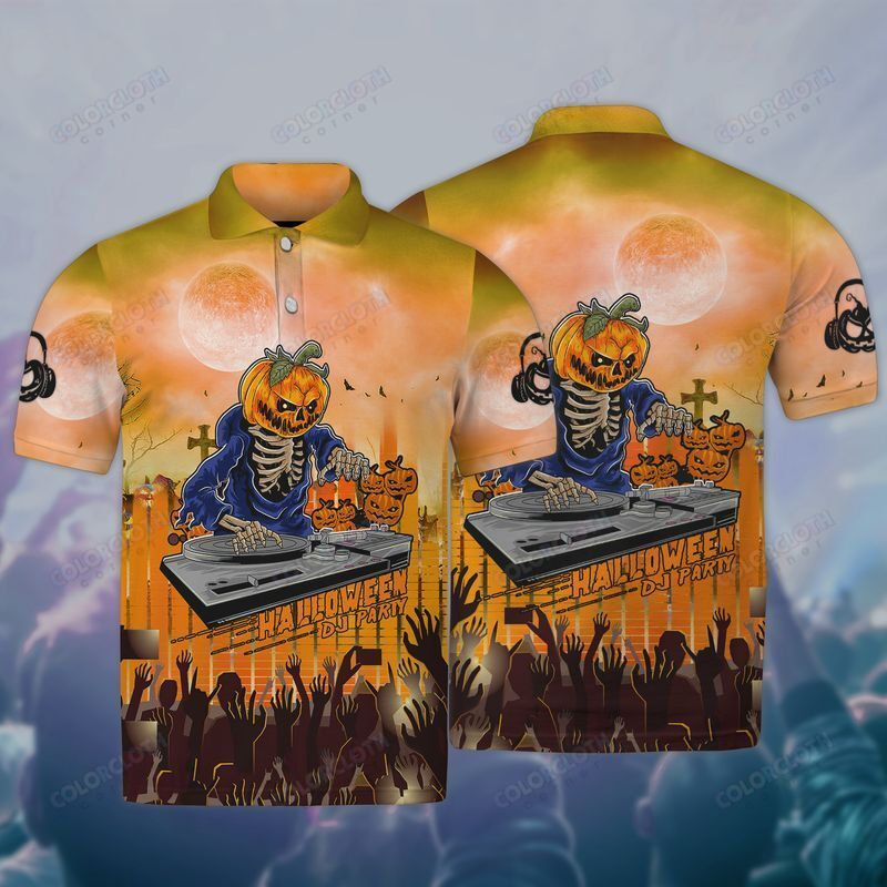 DJ Halloween Pumpkin skeleton 3D Hoodie and Sweatshirt
