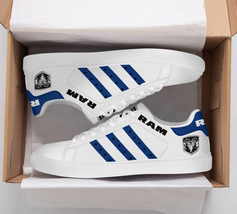 Ram Truck Blue Pattern White Stan Smith Shoes