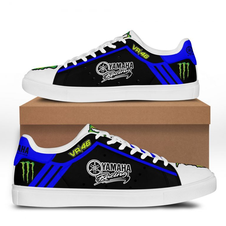 Yamaha Racing VR 46 Blue line in Black Stan Smith Shoes