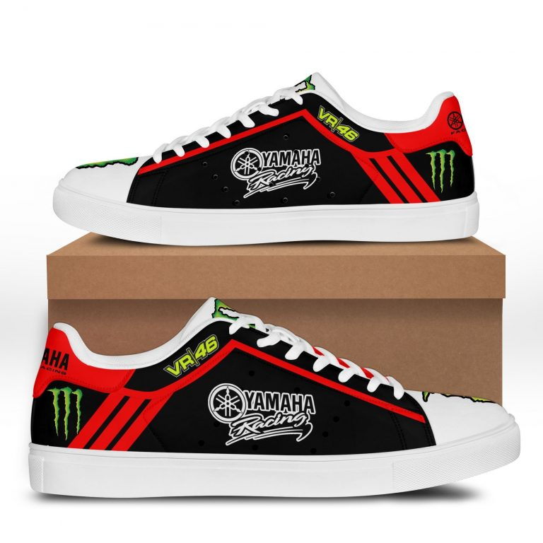 Yamaha Racing VR 46 Red line in Black Stan Smith Shoes