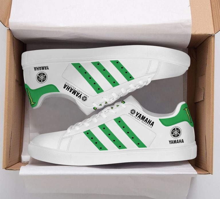 Yamaha Racing Green line in White Stan Smith Shoes