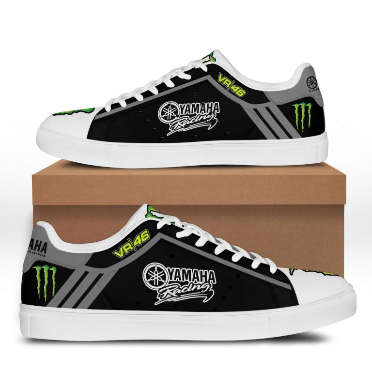 Yamaha Racing VR 46 Grey line in Black Stan Smith Shoes
