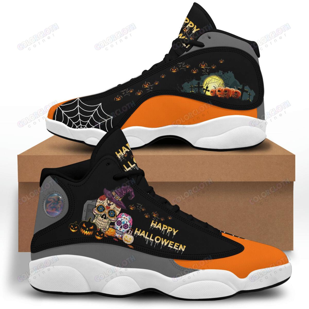 Happy Halloween skull Air Jordan 13 Shoes