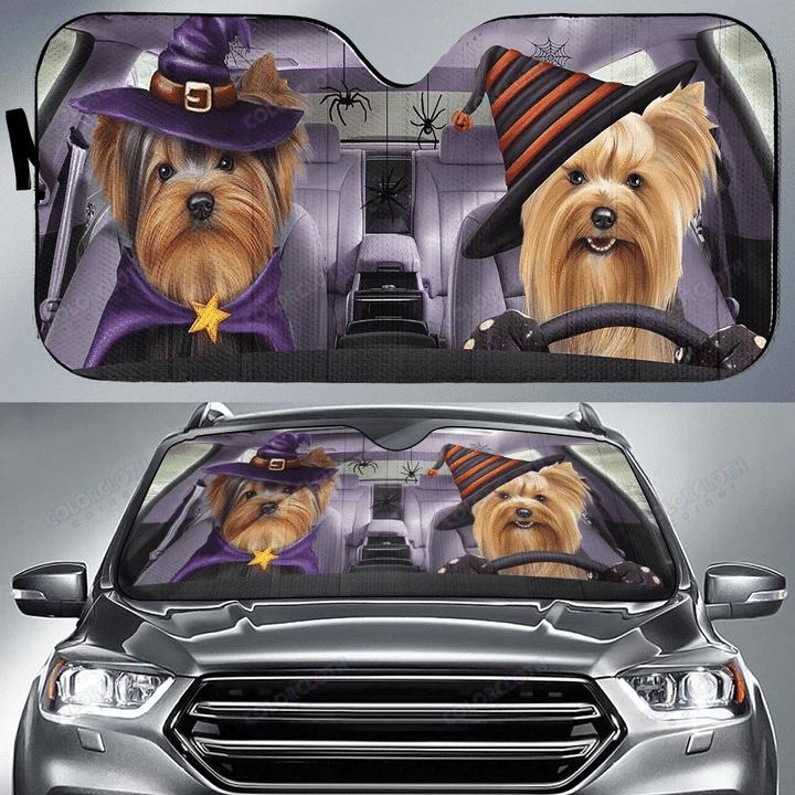 Dogs Funny Club Happy Halloween Car Sunshade
