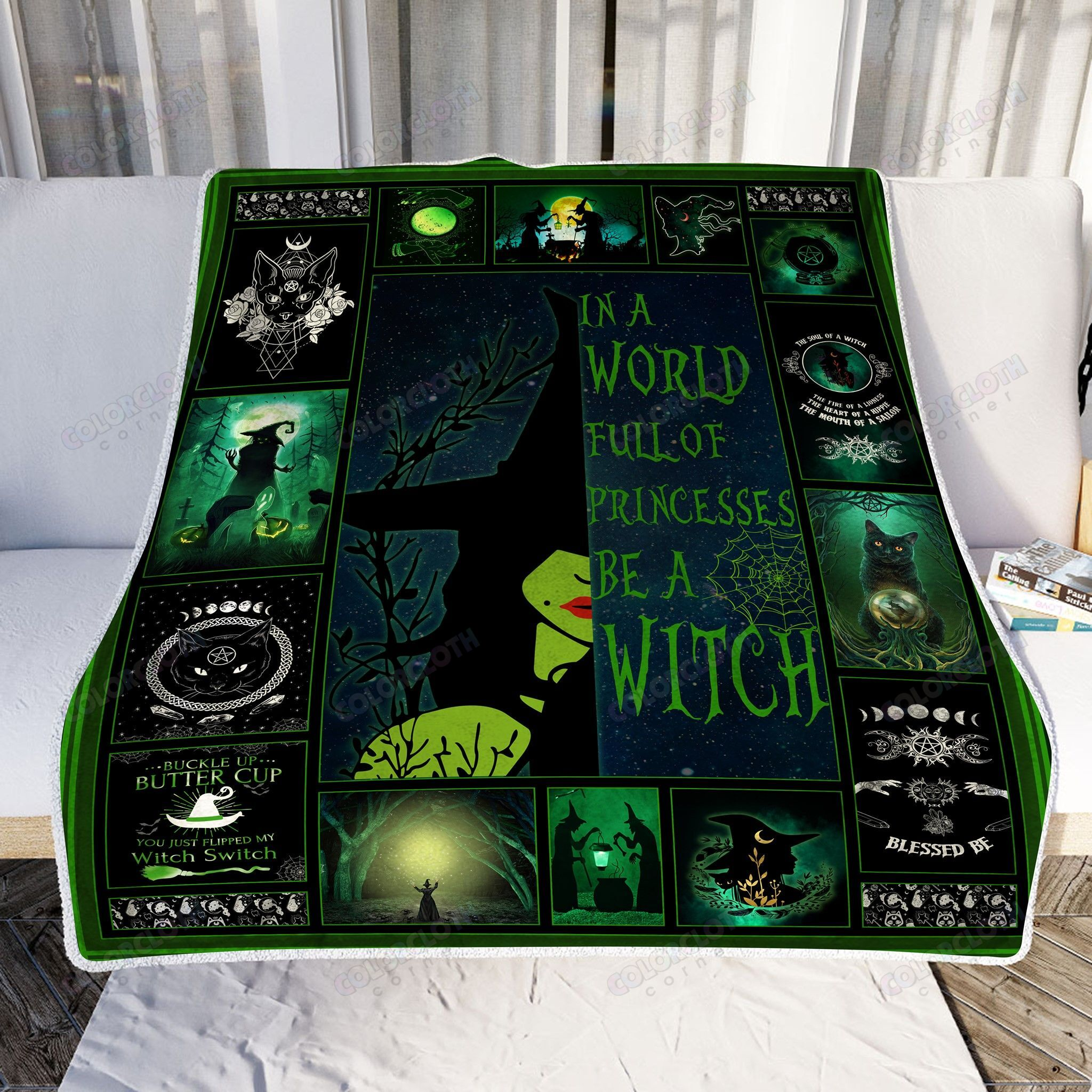 Happy Halloween In the world full of princesses be a Witch Fleece Blanket