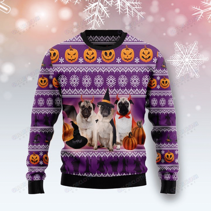 Pug Halloween Ugly Halloween Sweater