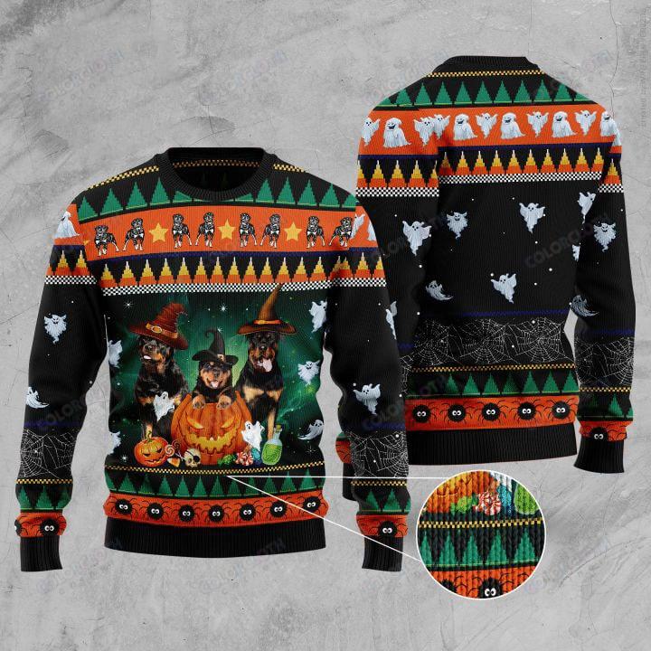 Rottweiler Halloween Sweater