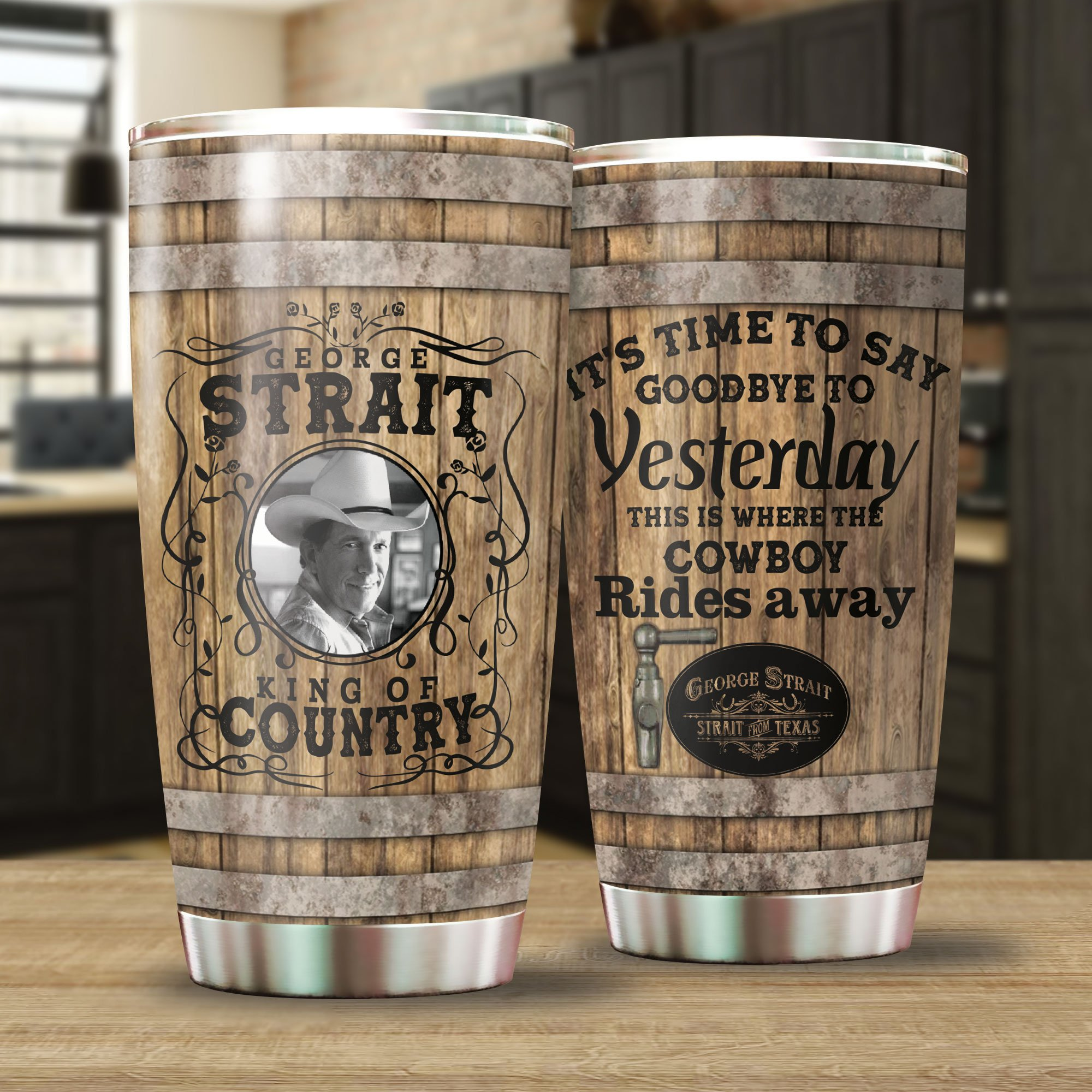 George Strait Stainless Steel Tumbler Cup