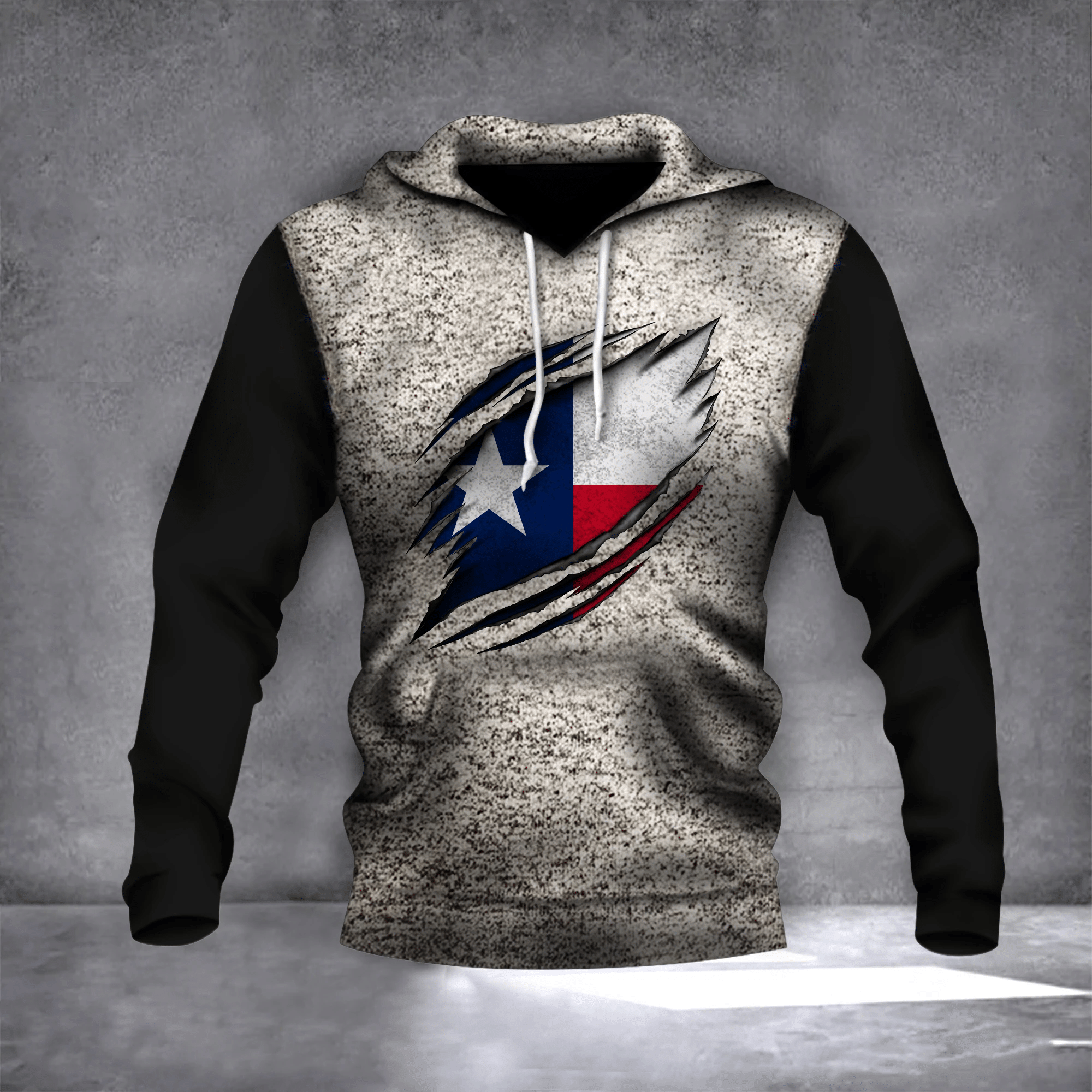Texas State Flag Logo Texas Inside Hole Hoodie 3D Patriotic Gifts