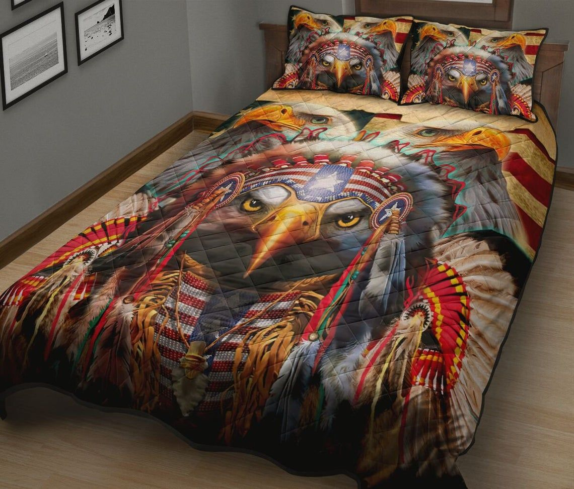 Native American Eagle Feathers Bedding Set