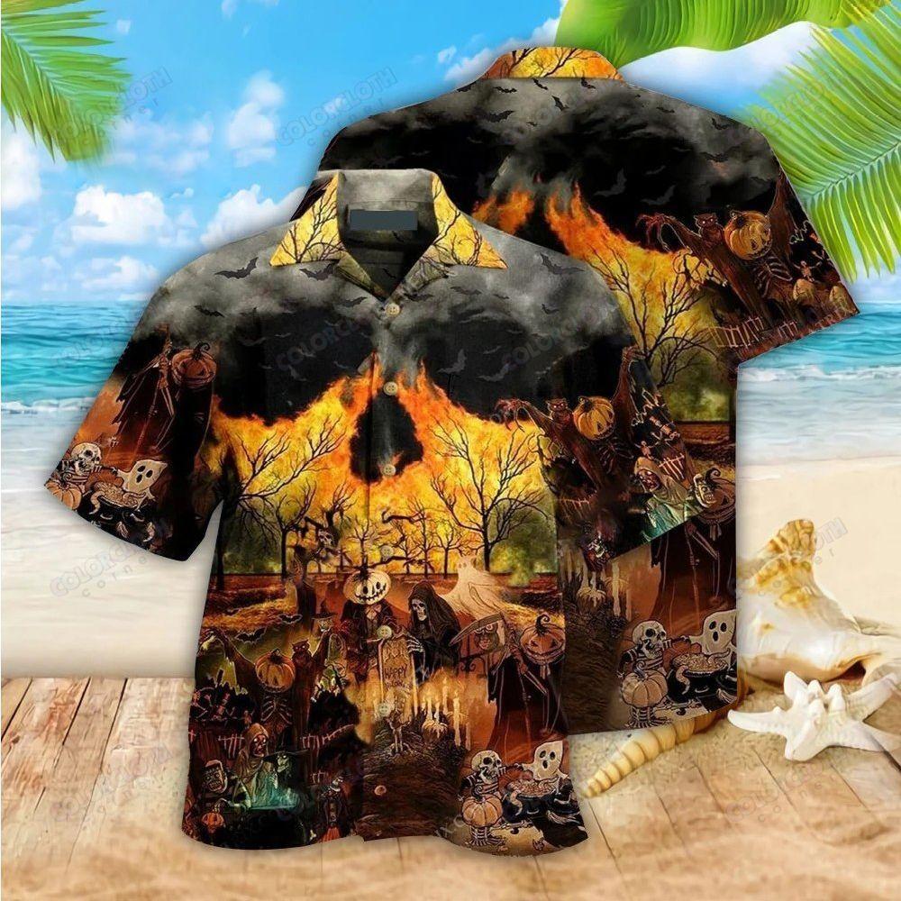 Halloween ghost Party Hawaiian Shirt