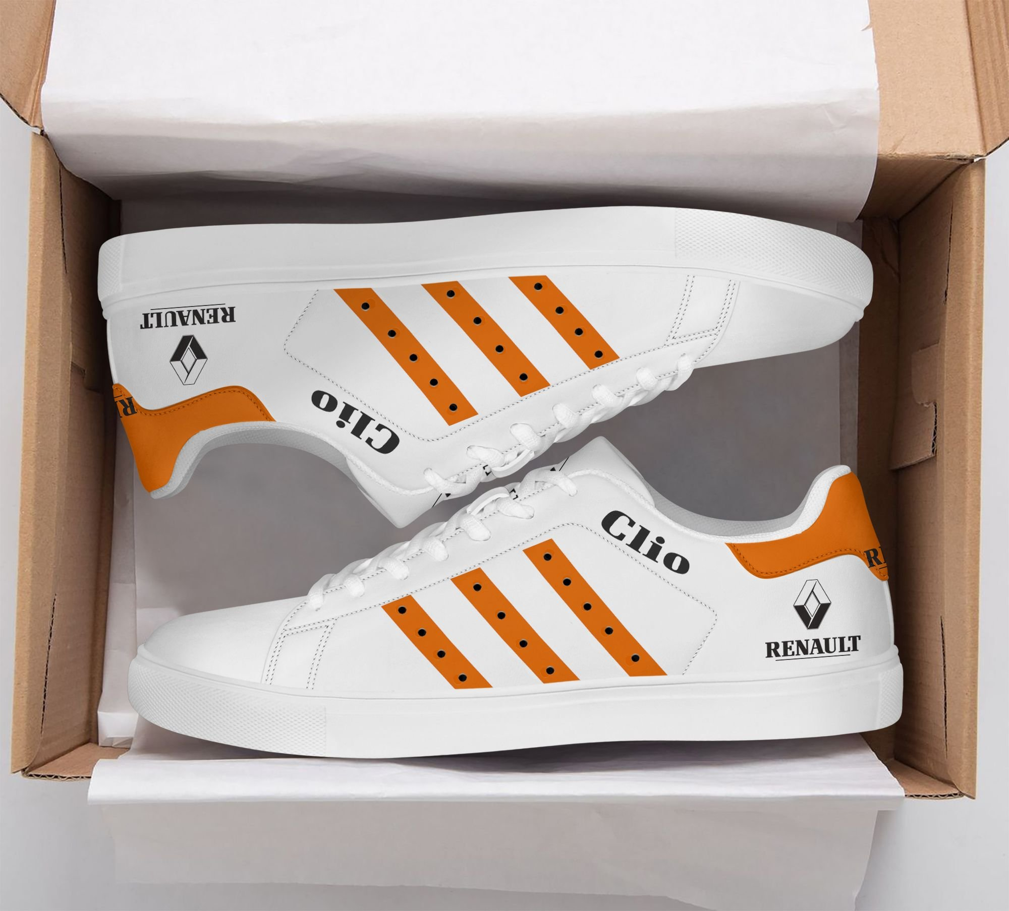 Renault Clio orange line Stan Smith Shoes
