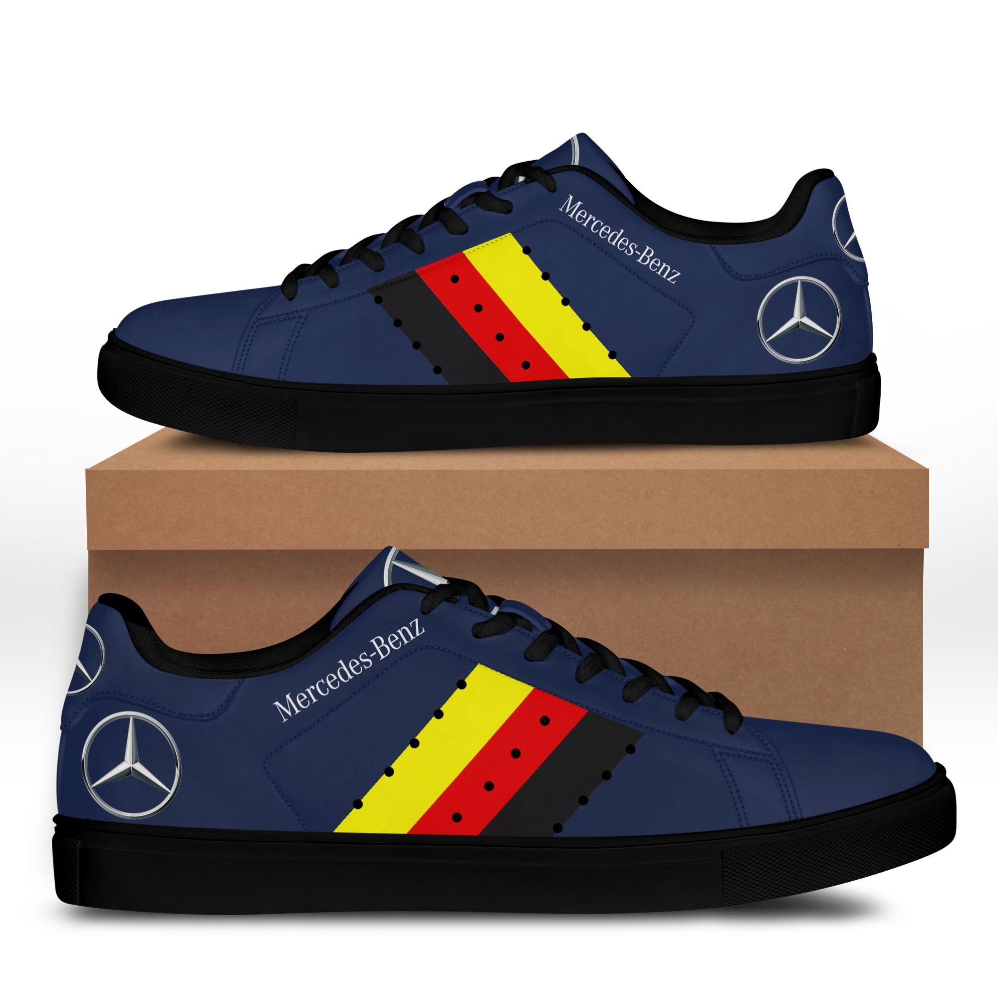 Mercedes Benz Blue Stan Smith Shoes