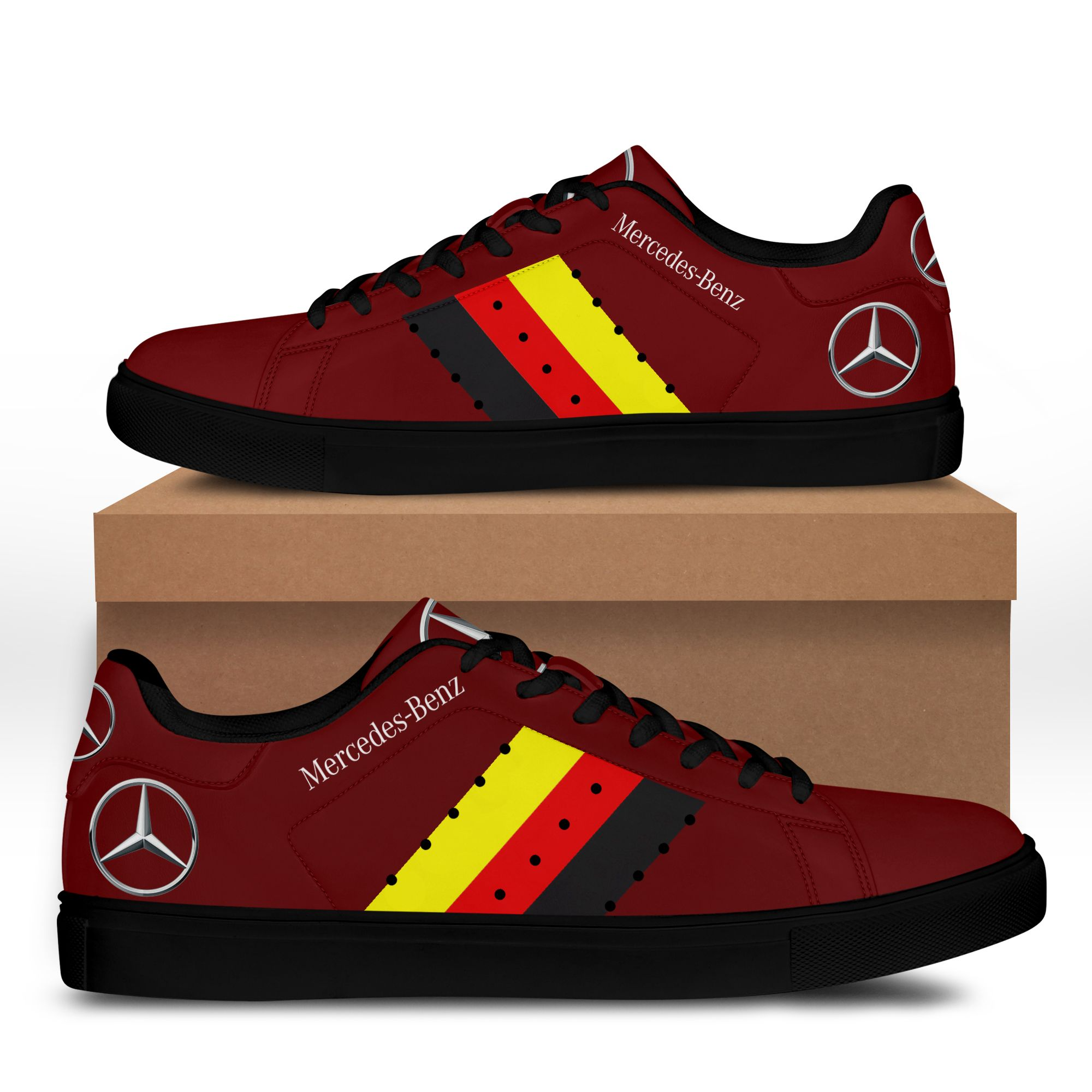 Mercedes Benz Red Stan Smith Shoes