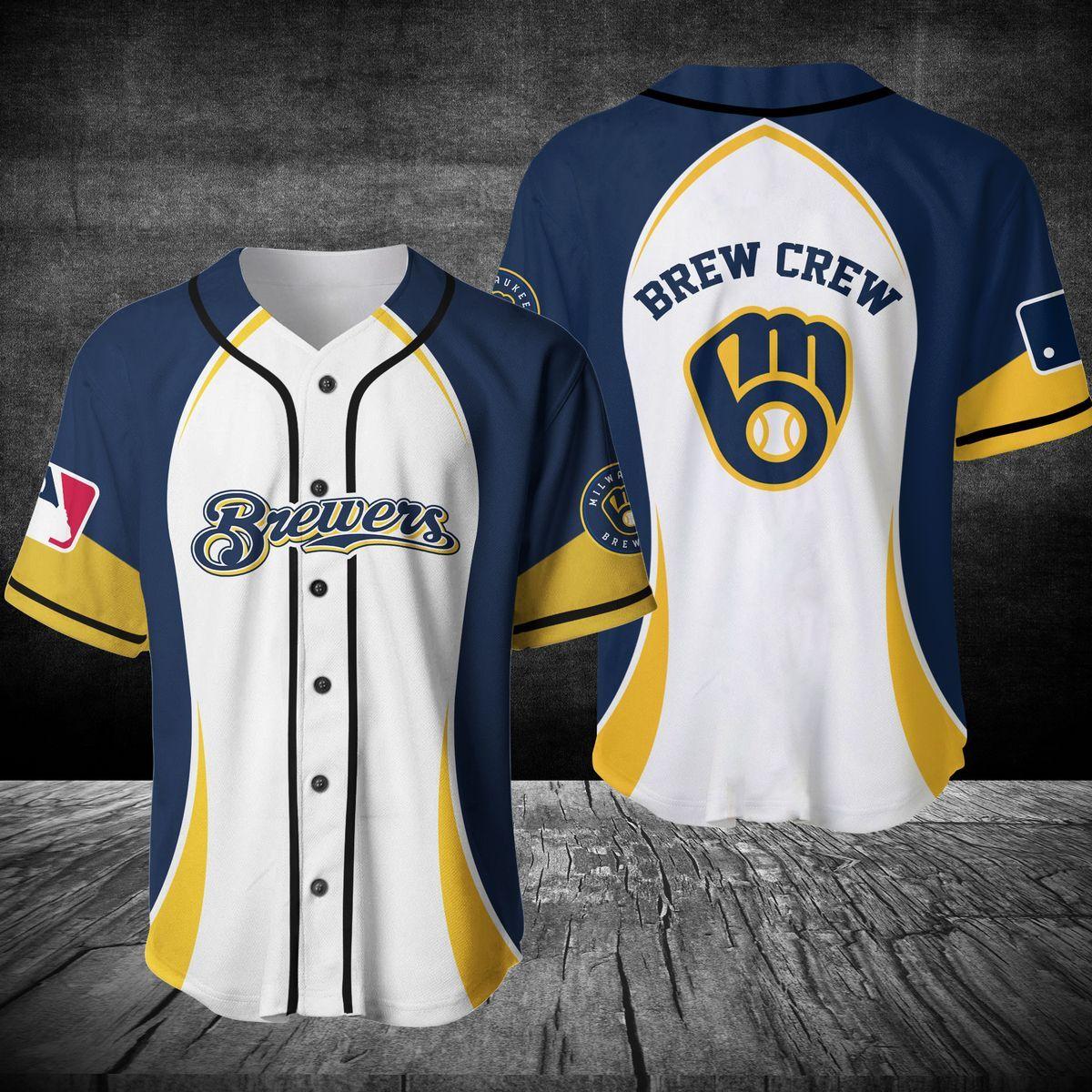 Milwaukee Brewers brew crew baseball jersey shirt