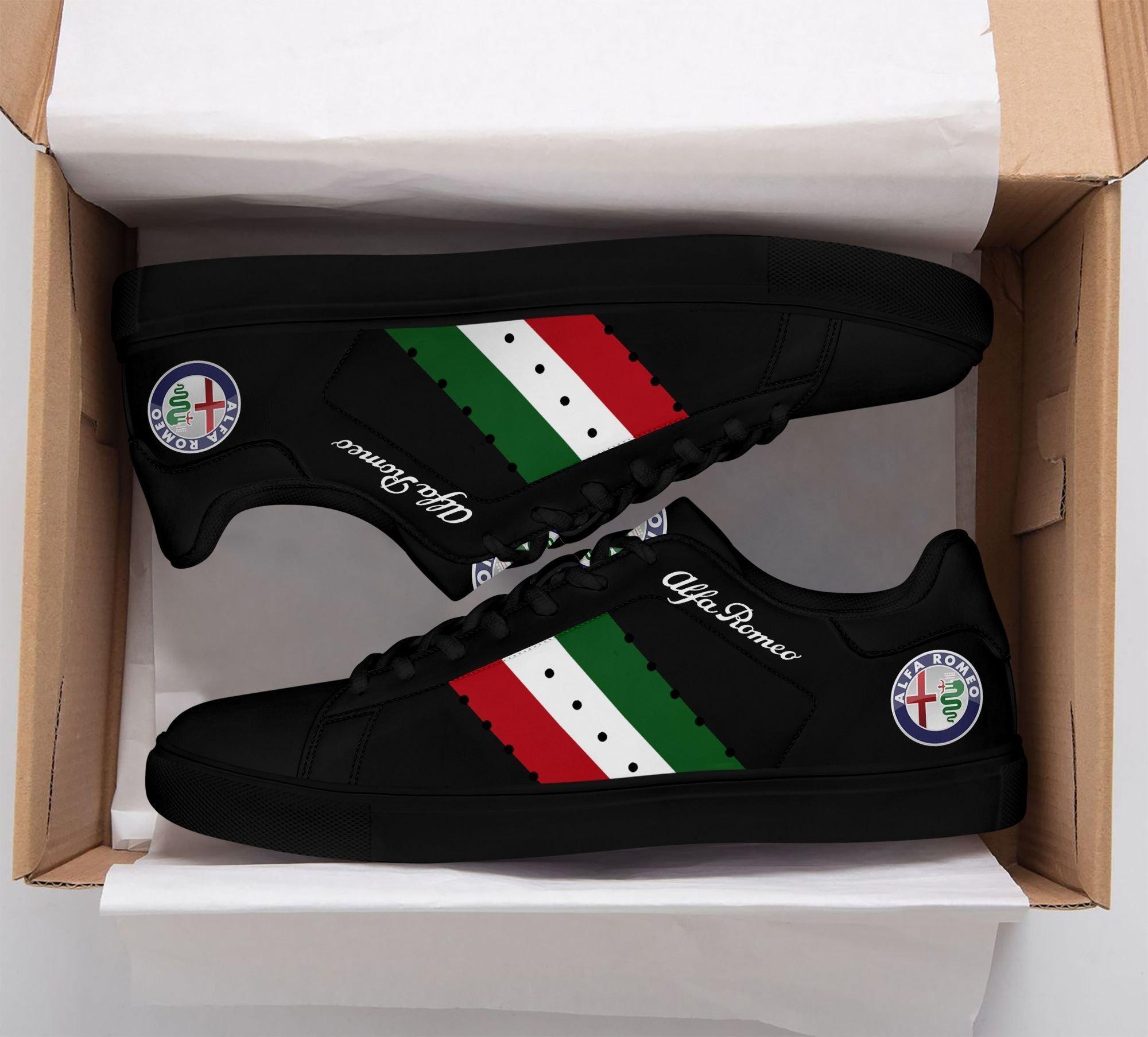 Alfa Romeo Black Stan Smith Shoes