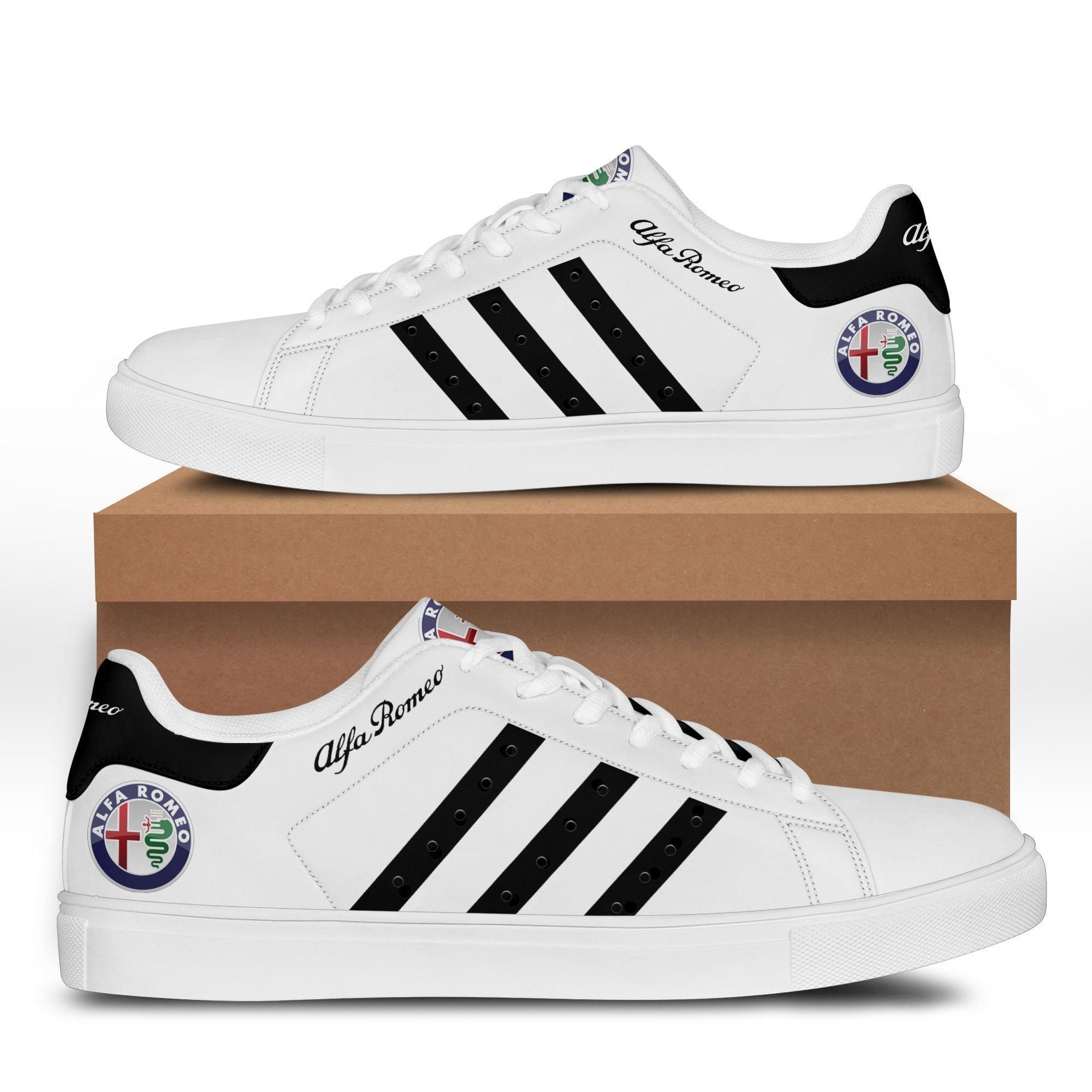 Alfa Romeo White Stan Smith Shoes