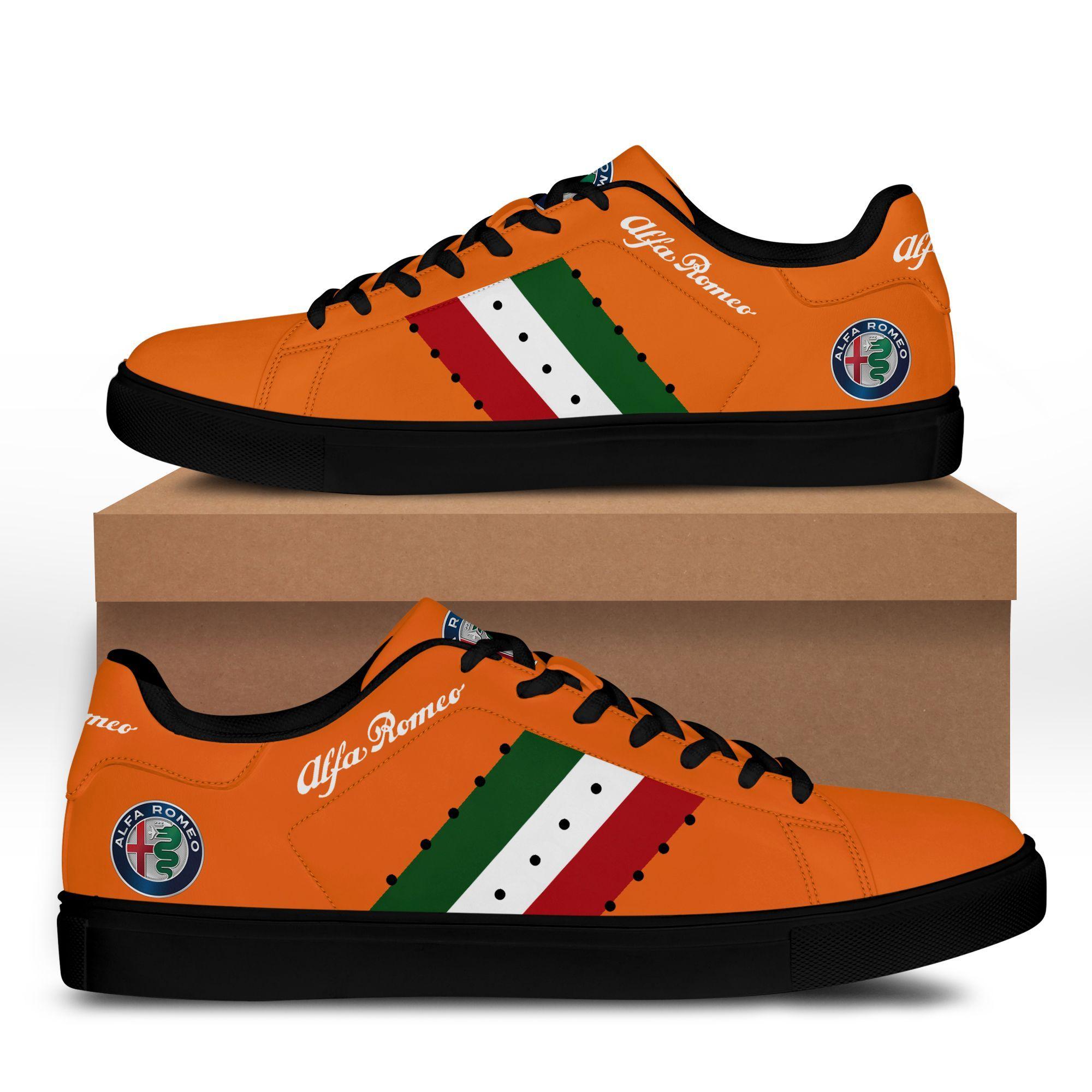 Alfa Romeo Orange Stan Smith Shoes