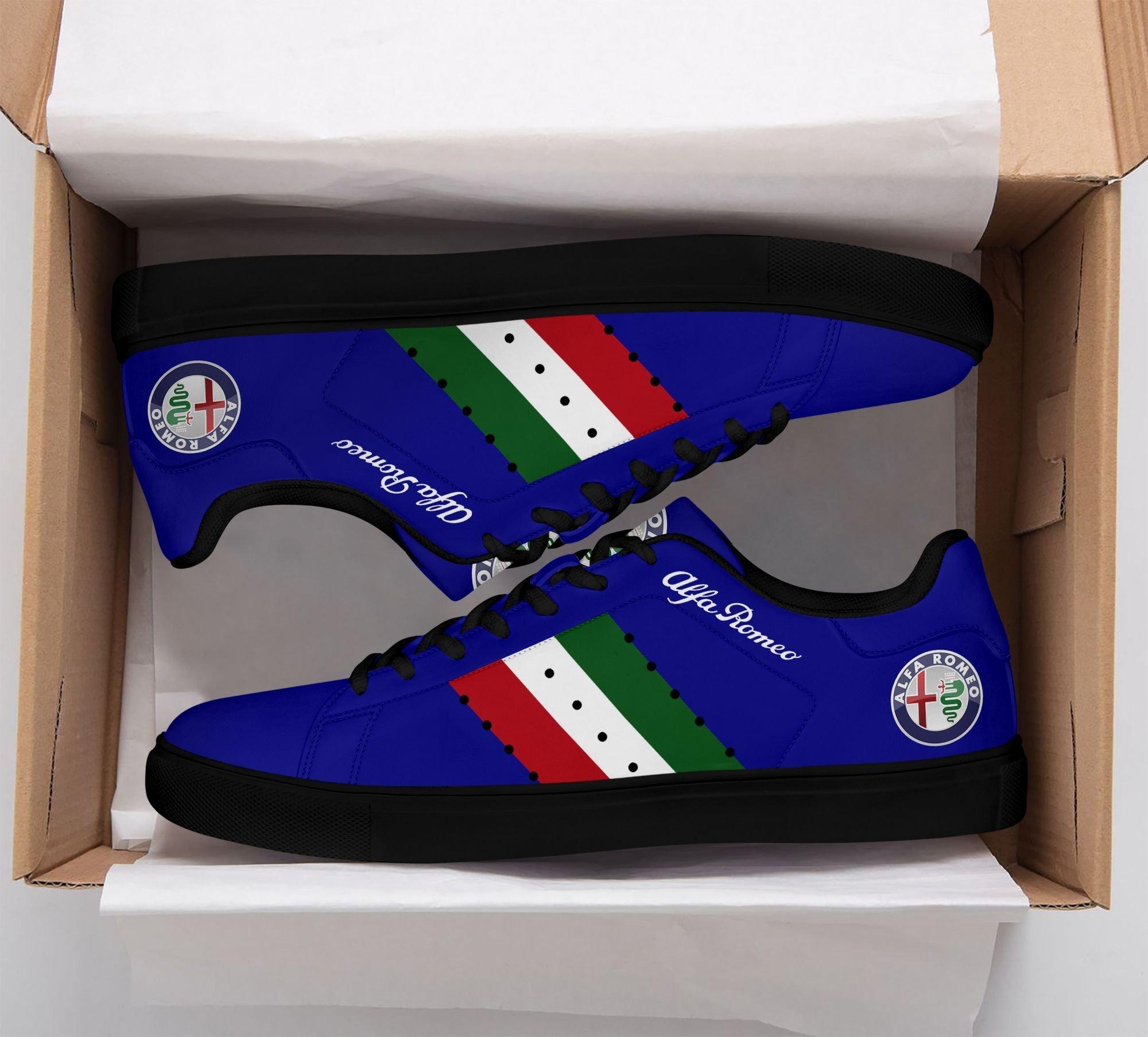Alfa Romeo Dark Blue Stan Smith Shoes