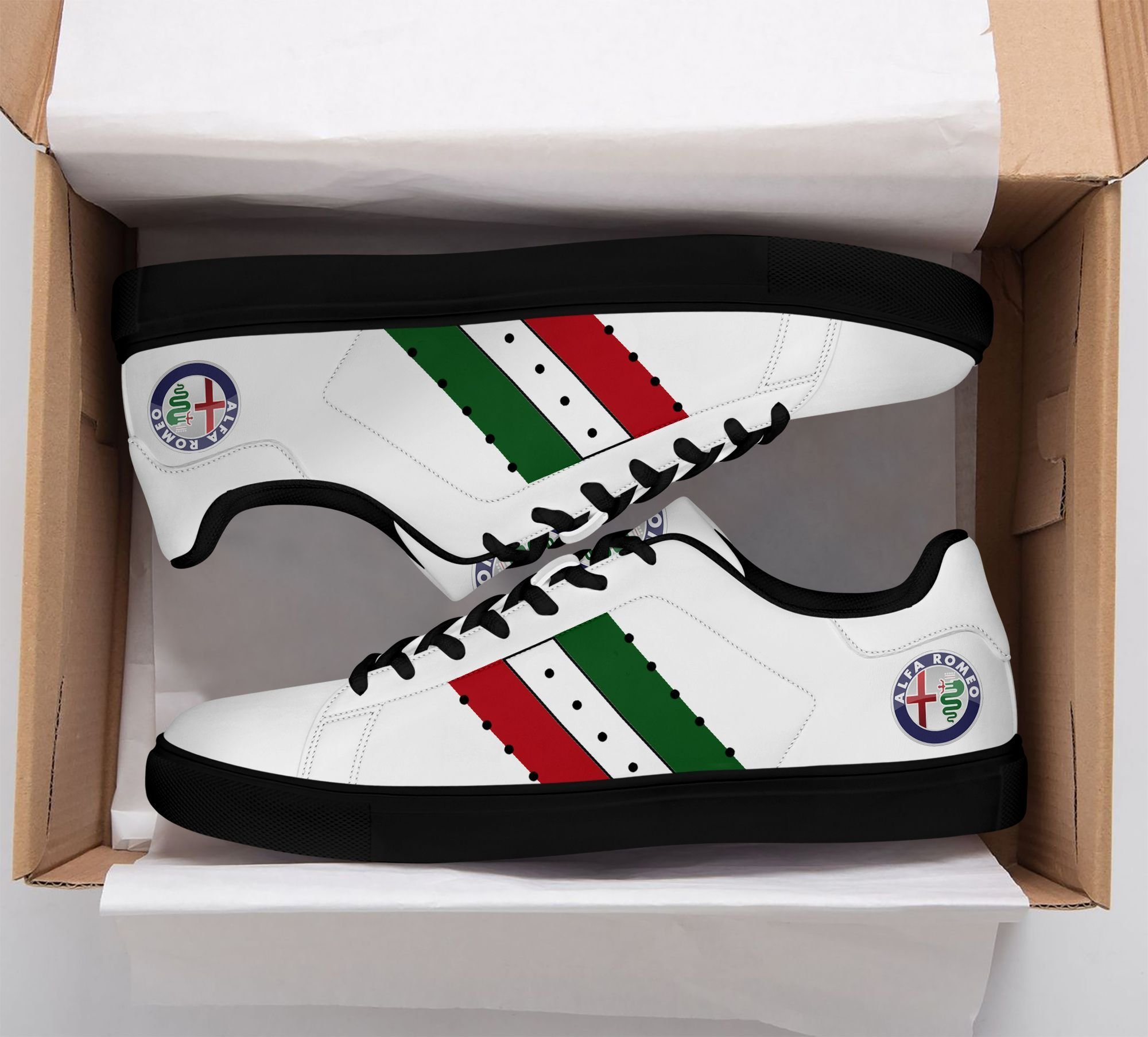 Alfa Romeo Color Lines in white Stan Smith Shoes