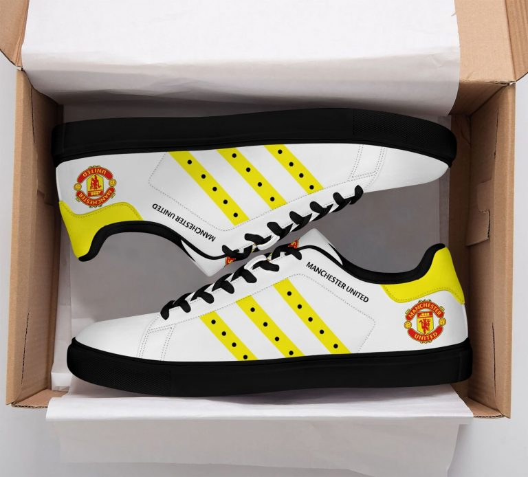 Manchester United Yellow Stan Smith Shoes