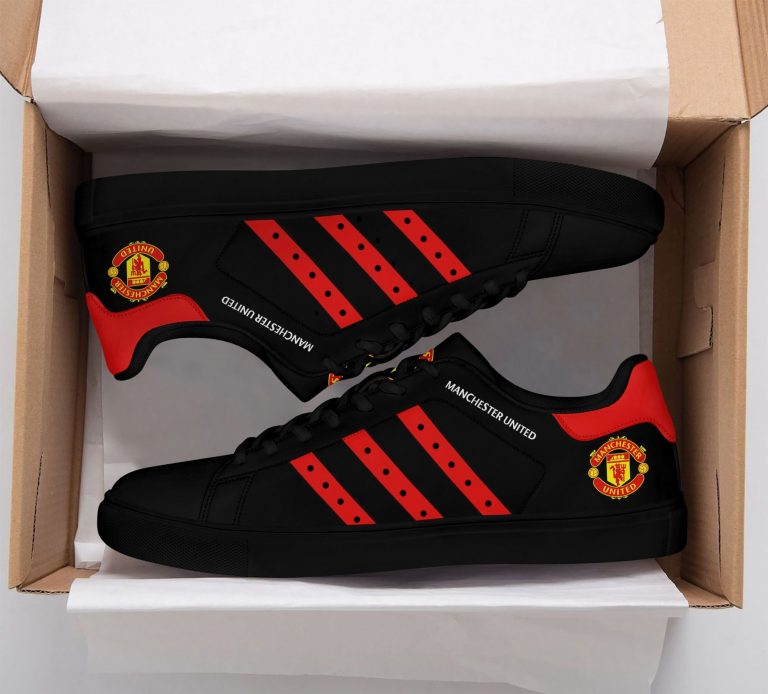 Manchester United Black Stan Smith Shoes