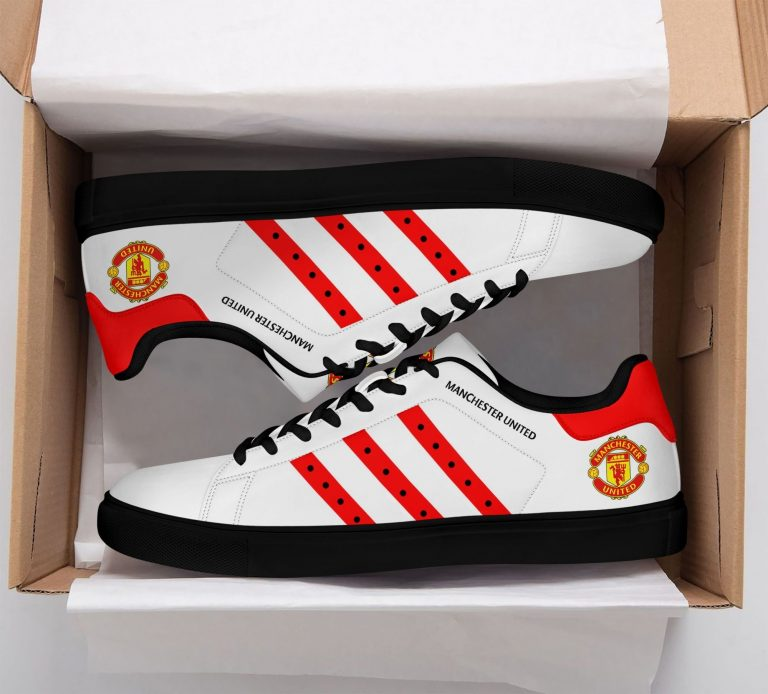 Manchester United White Stan Smith Shoes