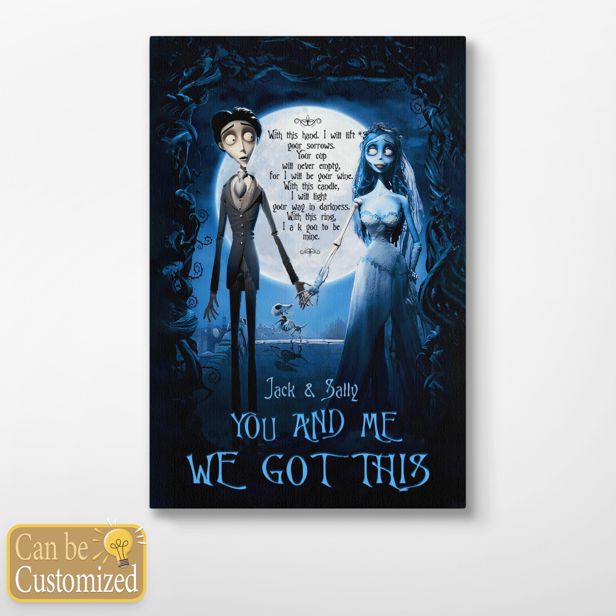 Jack and Sally You and Me We Got This Personalized Name Poster Canvas jigsaw