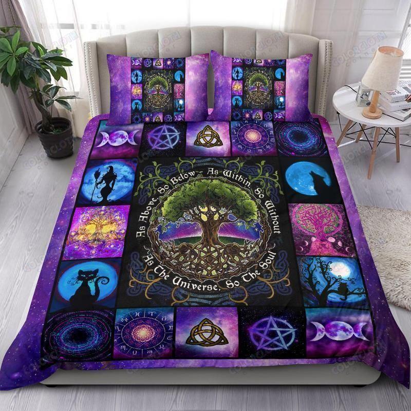 Tree Of Life Halloween Wicca Bedding Set