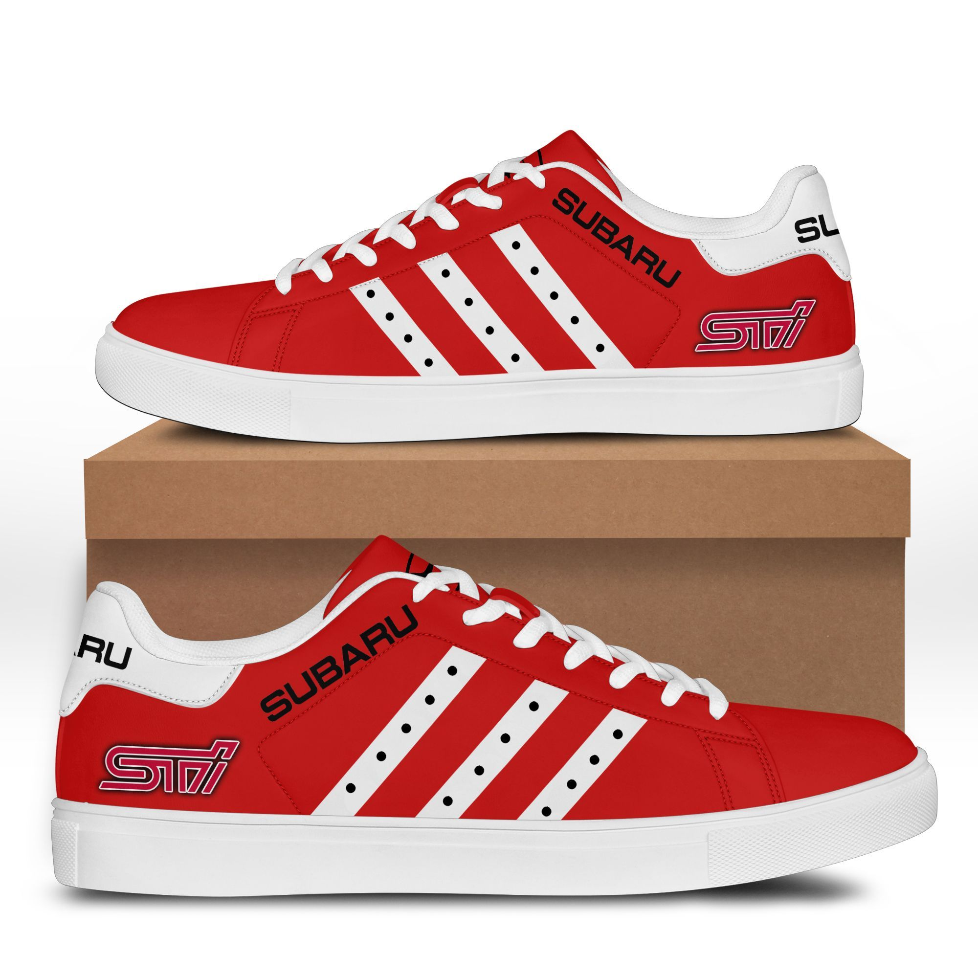 SUBARU STI Red Stan Smith Shoes