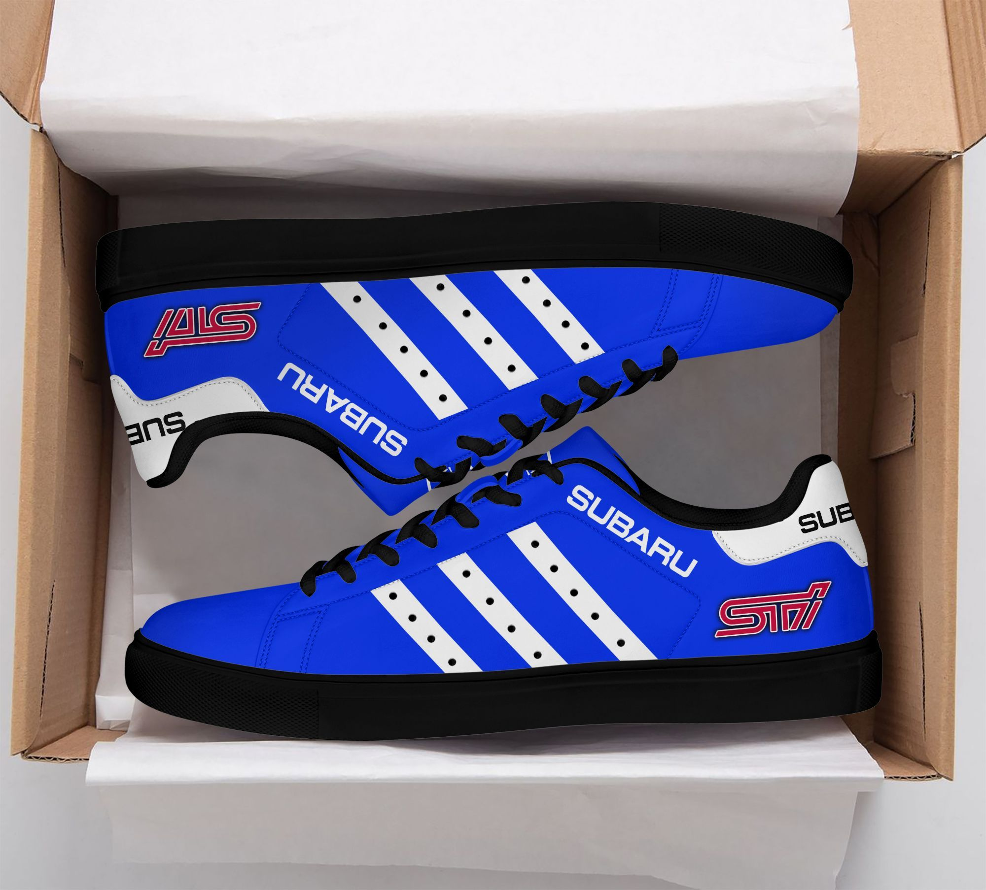 SUBARU STI Blue Stan Smith Shoes