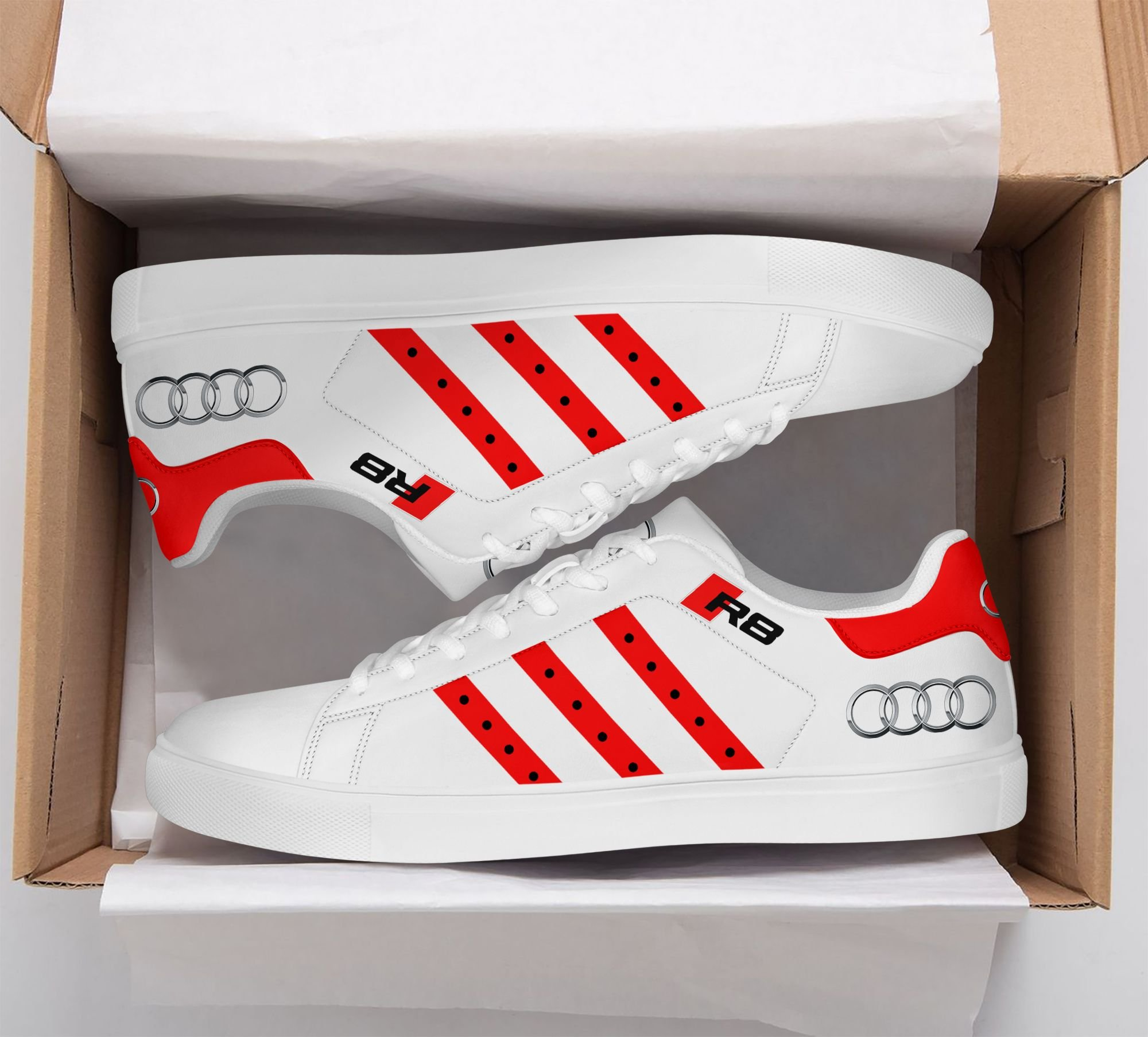 Audi R8 sport car Stan Smith Shoes red version