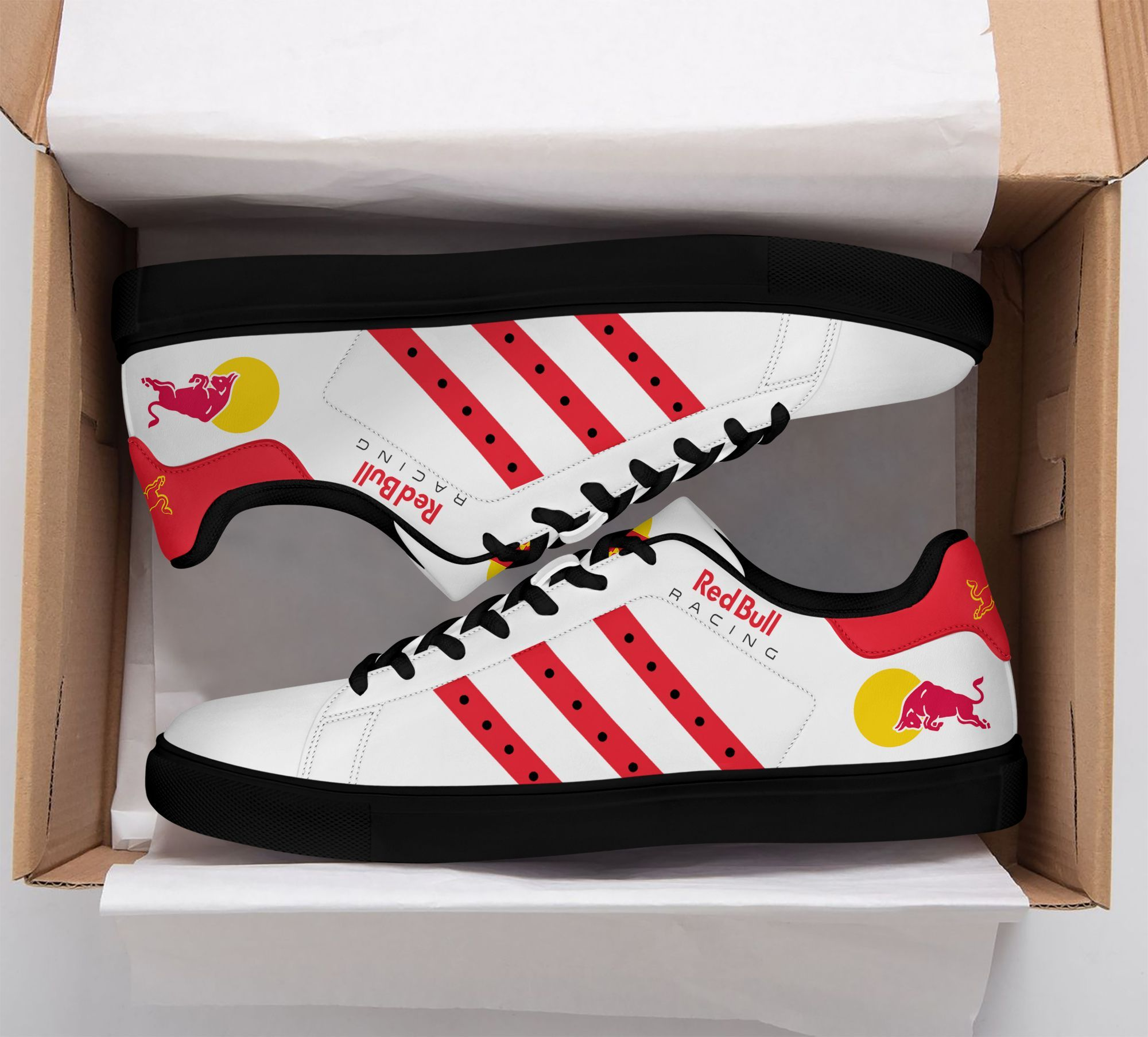 Red Bull racing white red Premium Stan Smith Shoes
