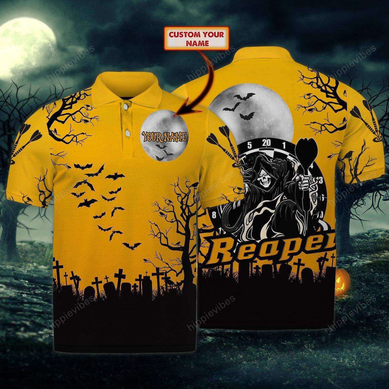 Dart Reaper Halloween Custom Polo Shirt