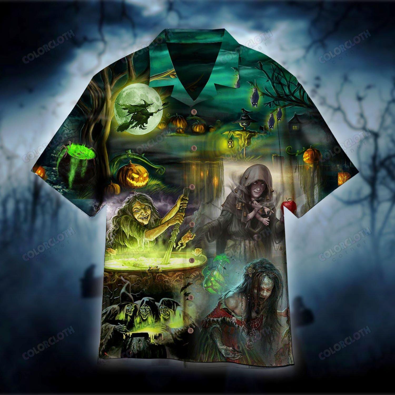 Halloween Witch House Hawaiian Shirt