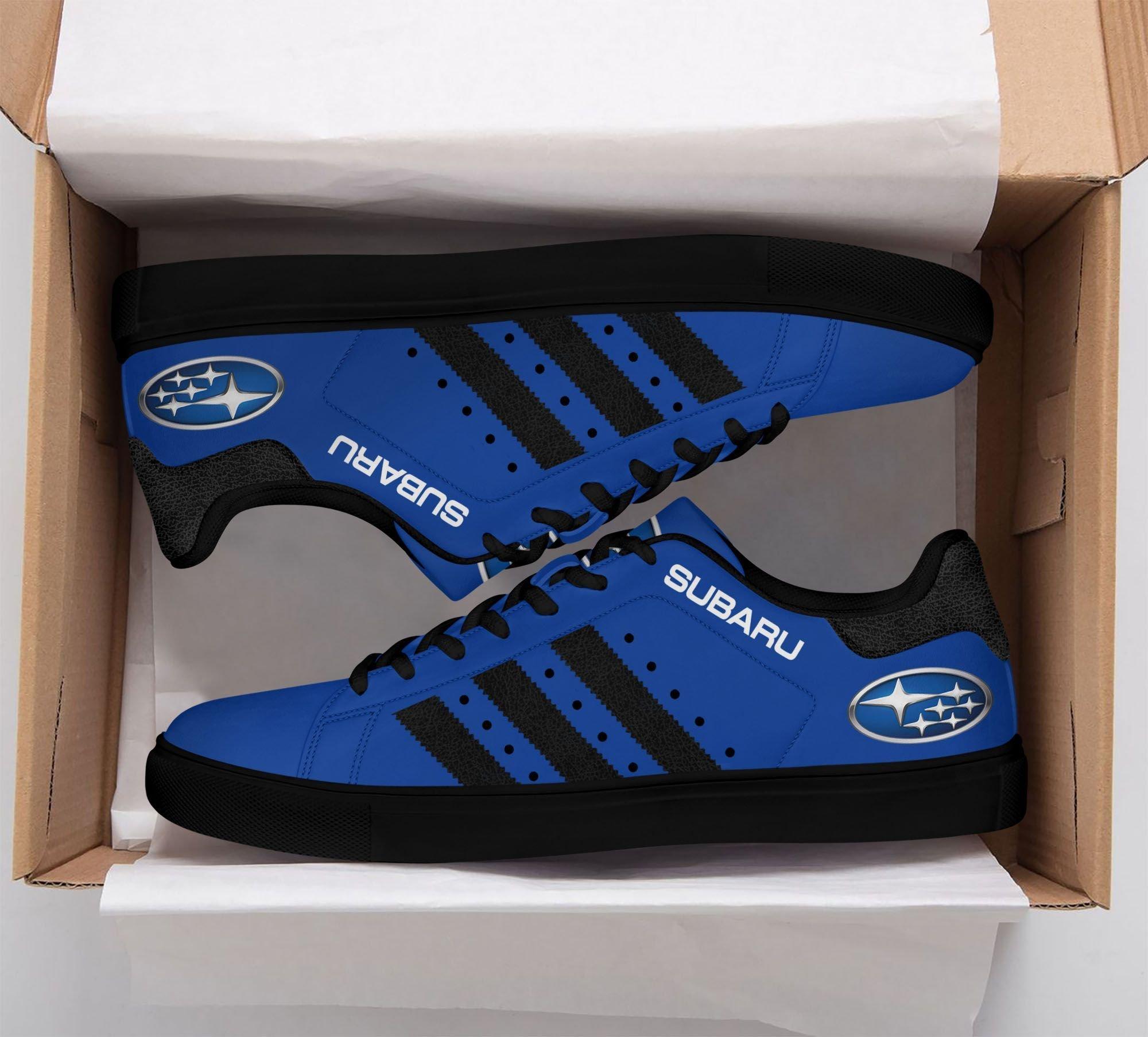 Subaru Blue Stan Smith Shoes