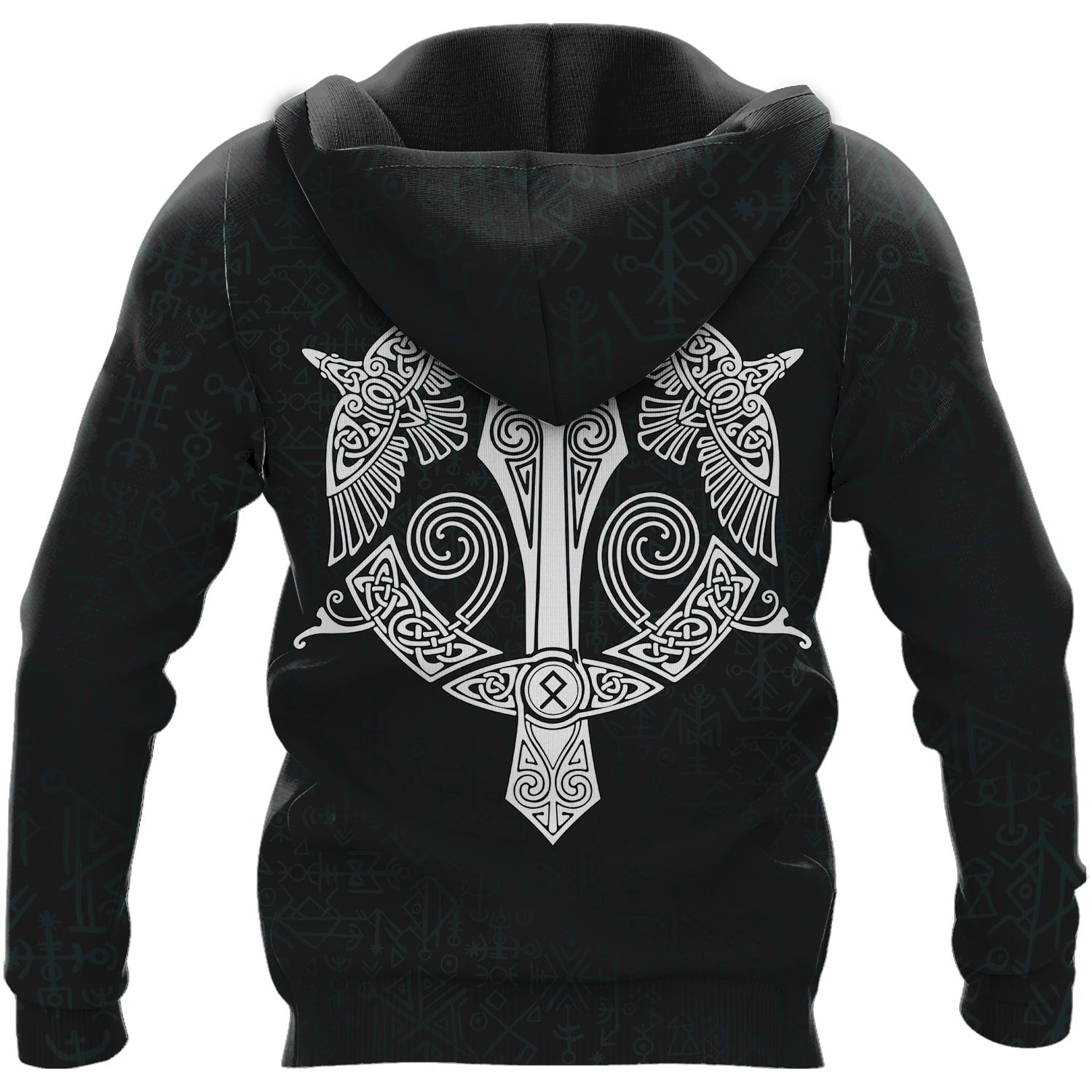 Odin Raven Till Valhalla 3D Viking Hoodie and T-shirt