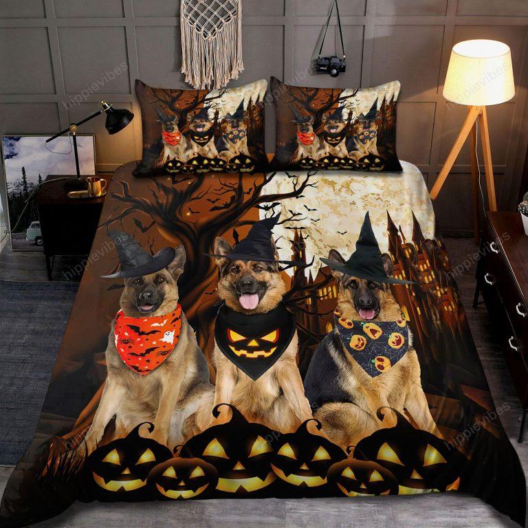 German Shepherd Happy Halloween Bedding Set
