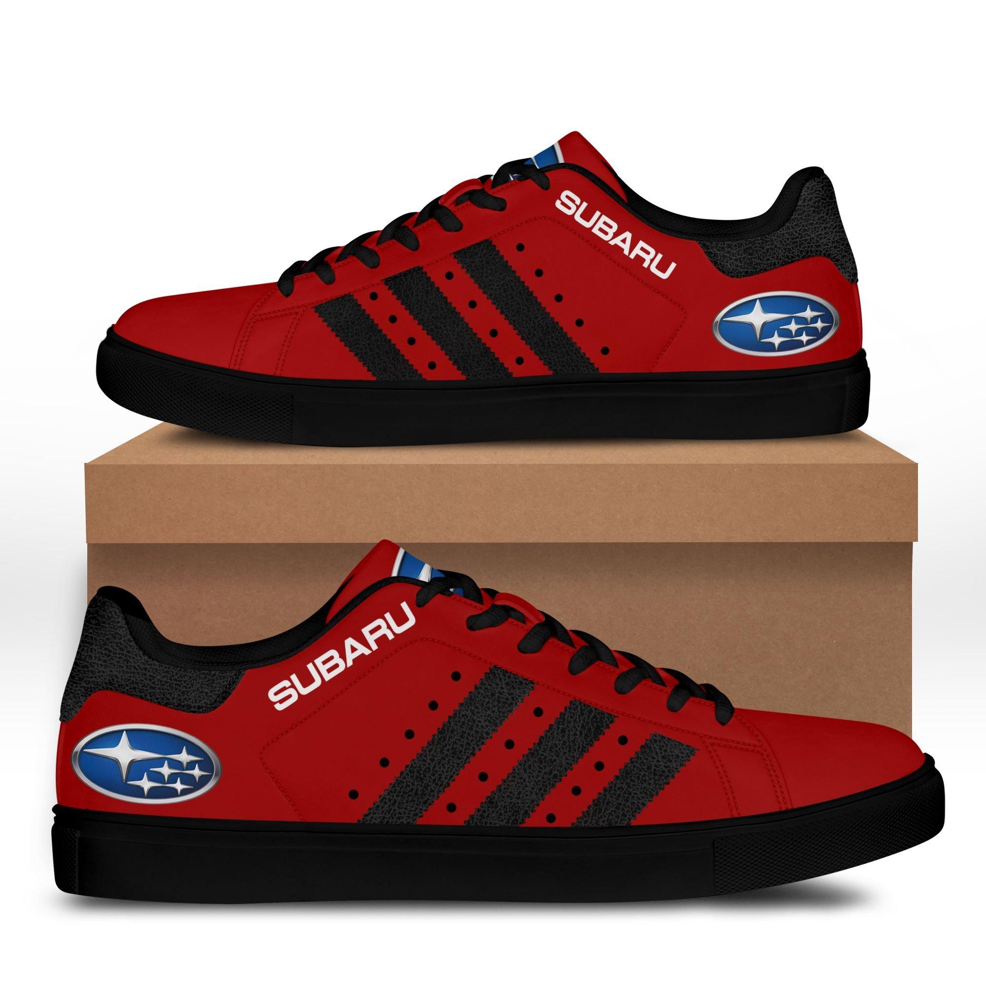 Subaru Dark Red Stan Smith Shoes