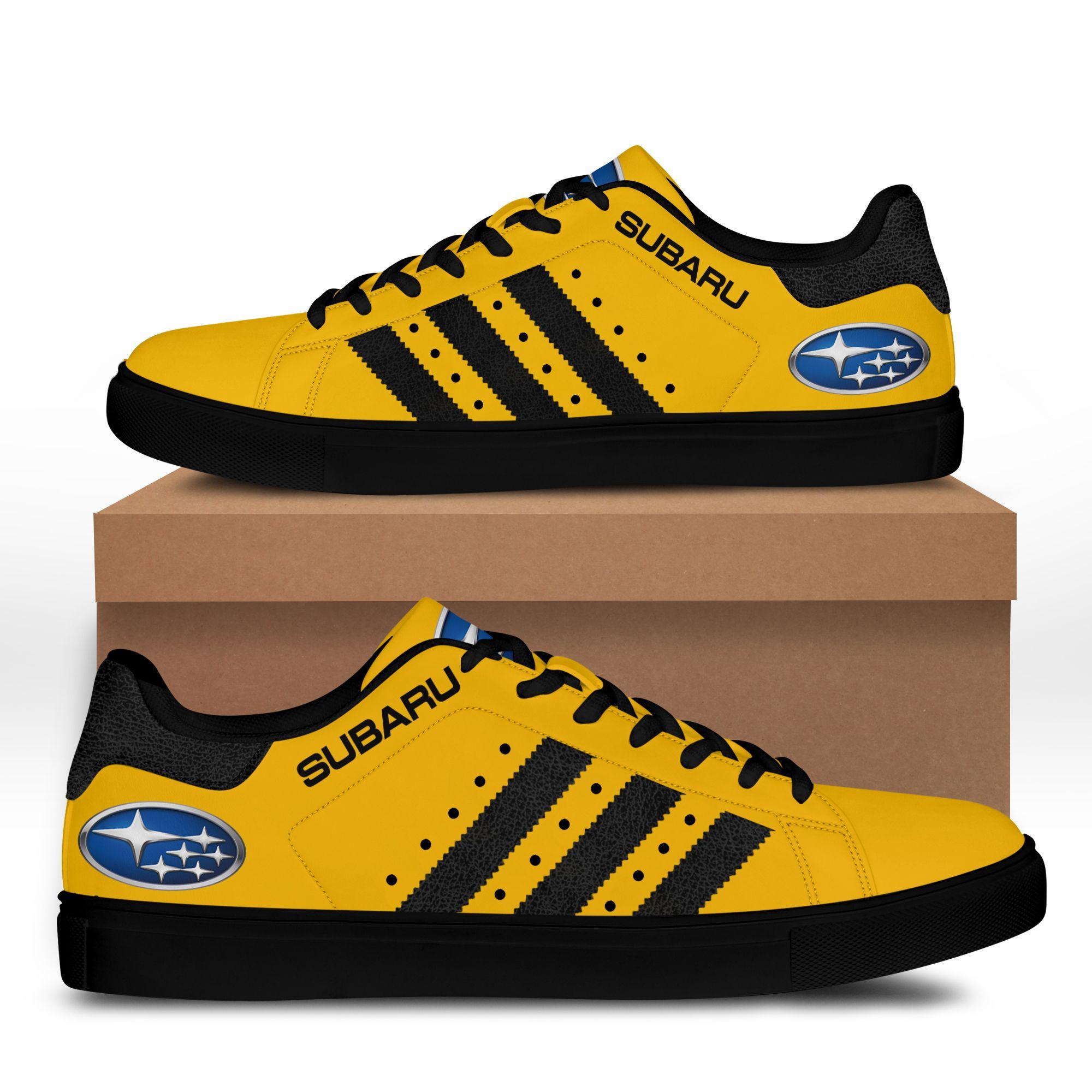 Subaru Yellow Stan Smith Shoes